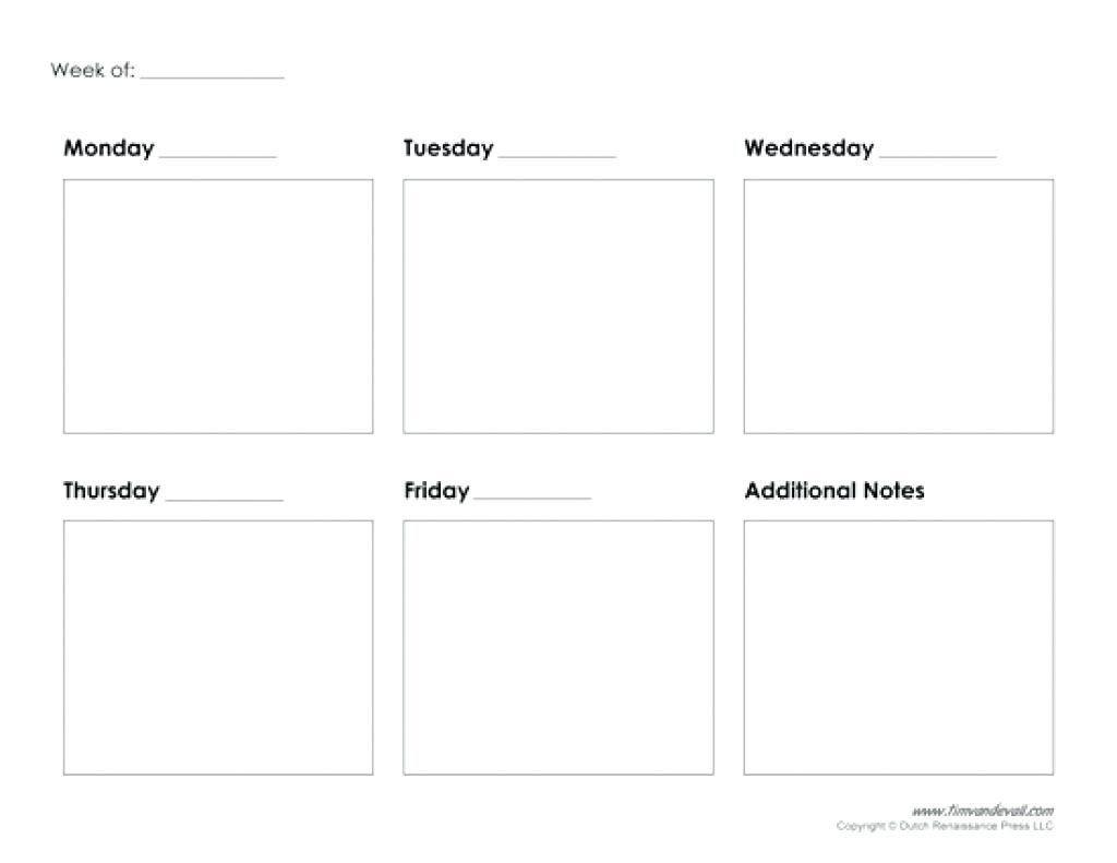 Blank Day - Wpa.wpart.co-Blank Calendar Five Day