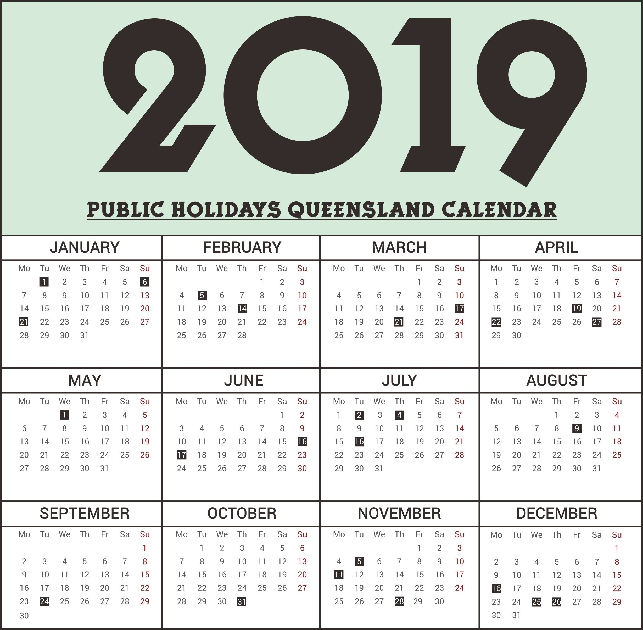 Calendar 2018 School Holidays Qld | Bray Park State High-Blank Qld Calendar 2020