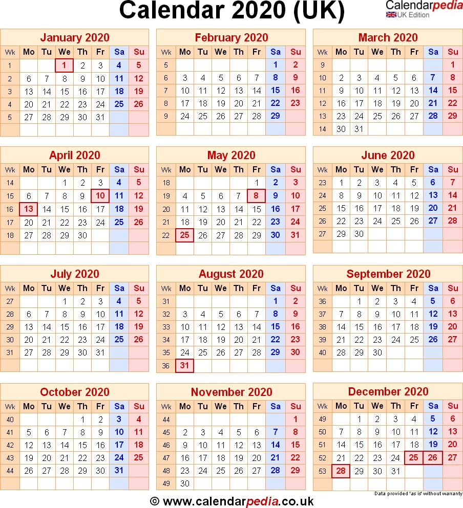 Calendar 2020 Uk With Bank Holidays & Excel/pdf/word Templates-Bank Holidays 2020 Europe Calendar
