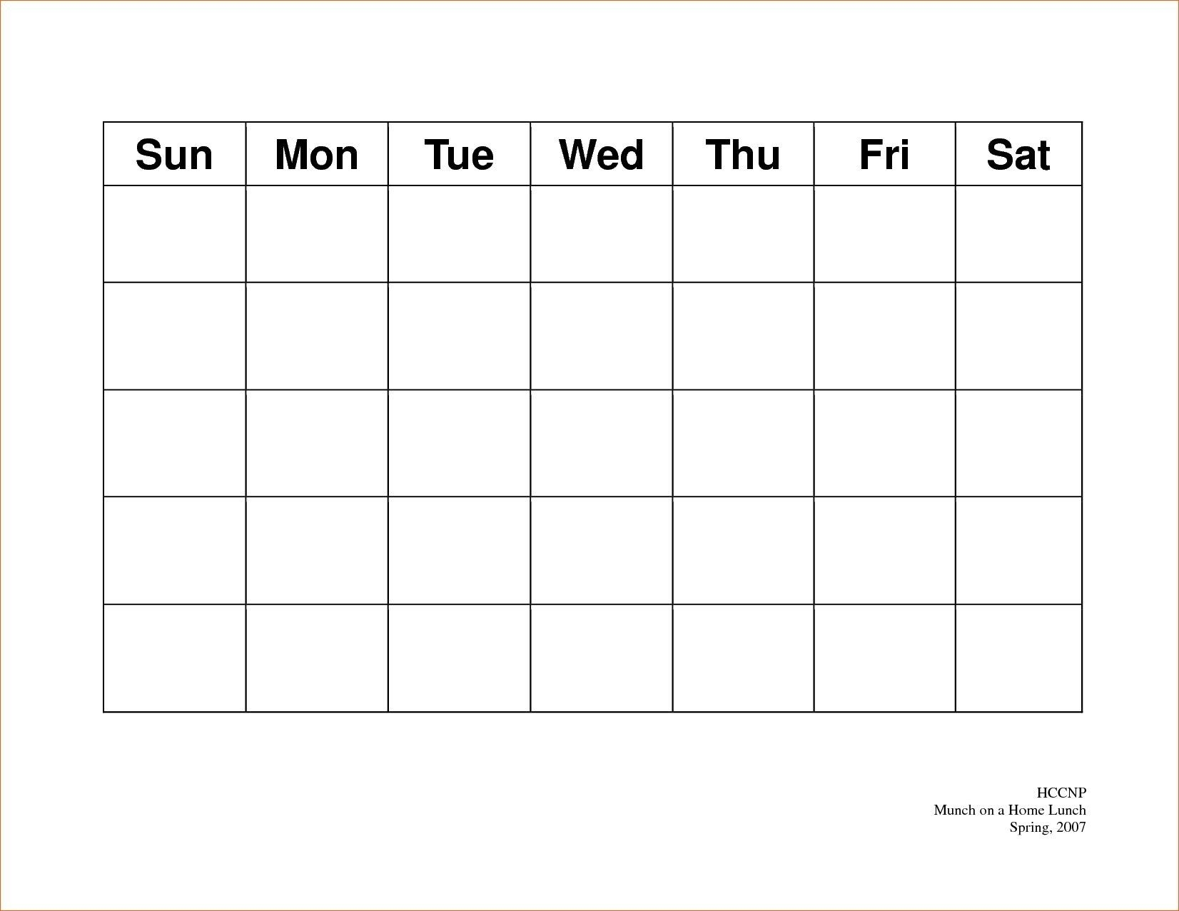 Calendar 5 Day Weekly Calendar Template On 5 Week Calendar-5 Day Weekly Planner Template