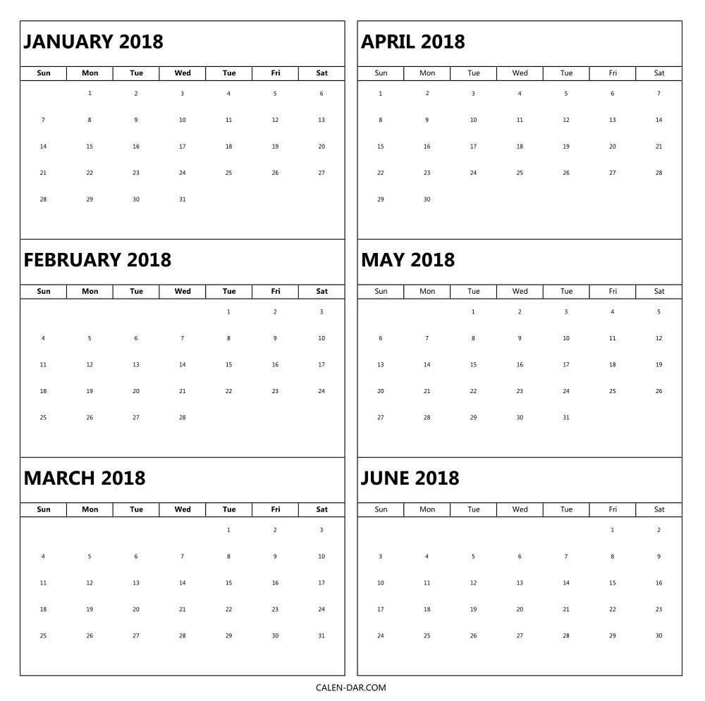 Calendar 6 Month - Wpa.wpart.co-Blank 6-Month Calendar Template