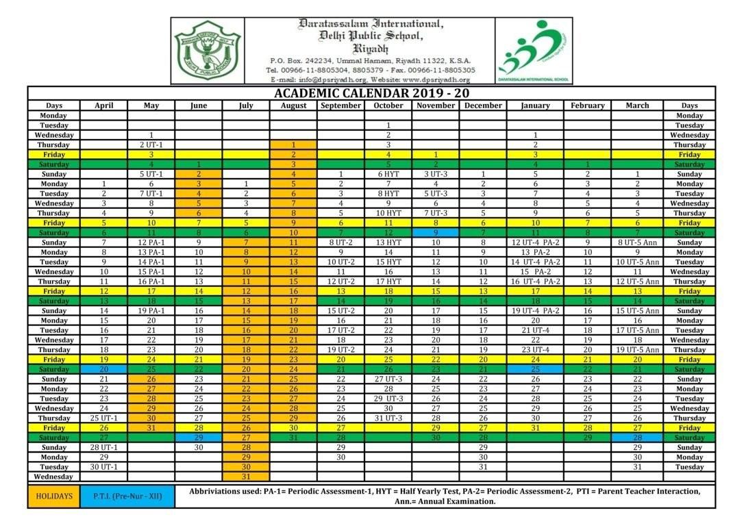 Calendar – Dps Riyadh-Saudi Bank Holidays 2020