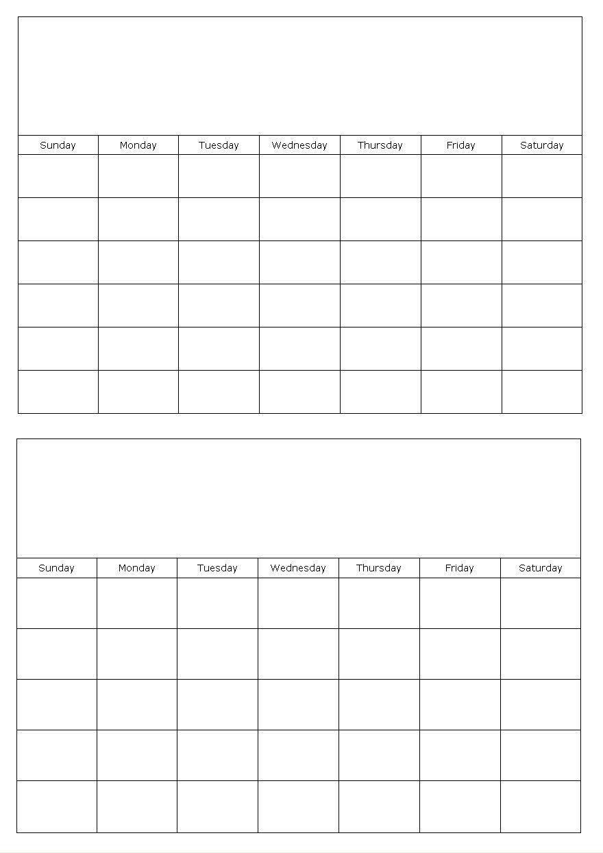 Calendar Templates | Printables | Blank Calendar Template-Blank Printable 2 Month Calendar