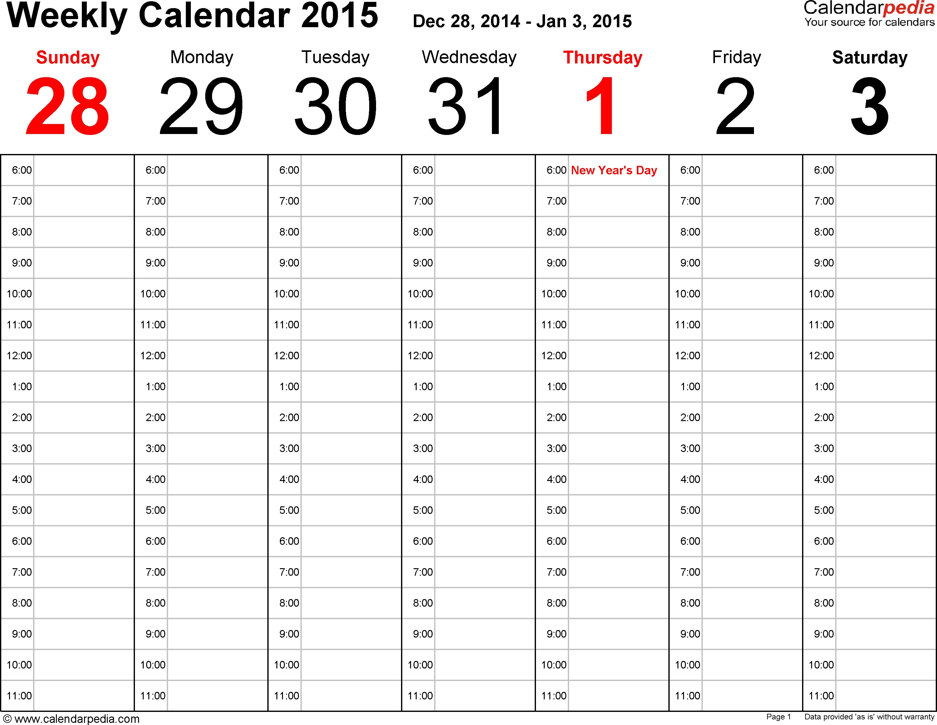 Calendarpedia - Free Printable, Fillable Calendar Templates-Calendar Template Fillable Pdf