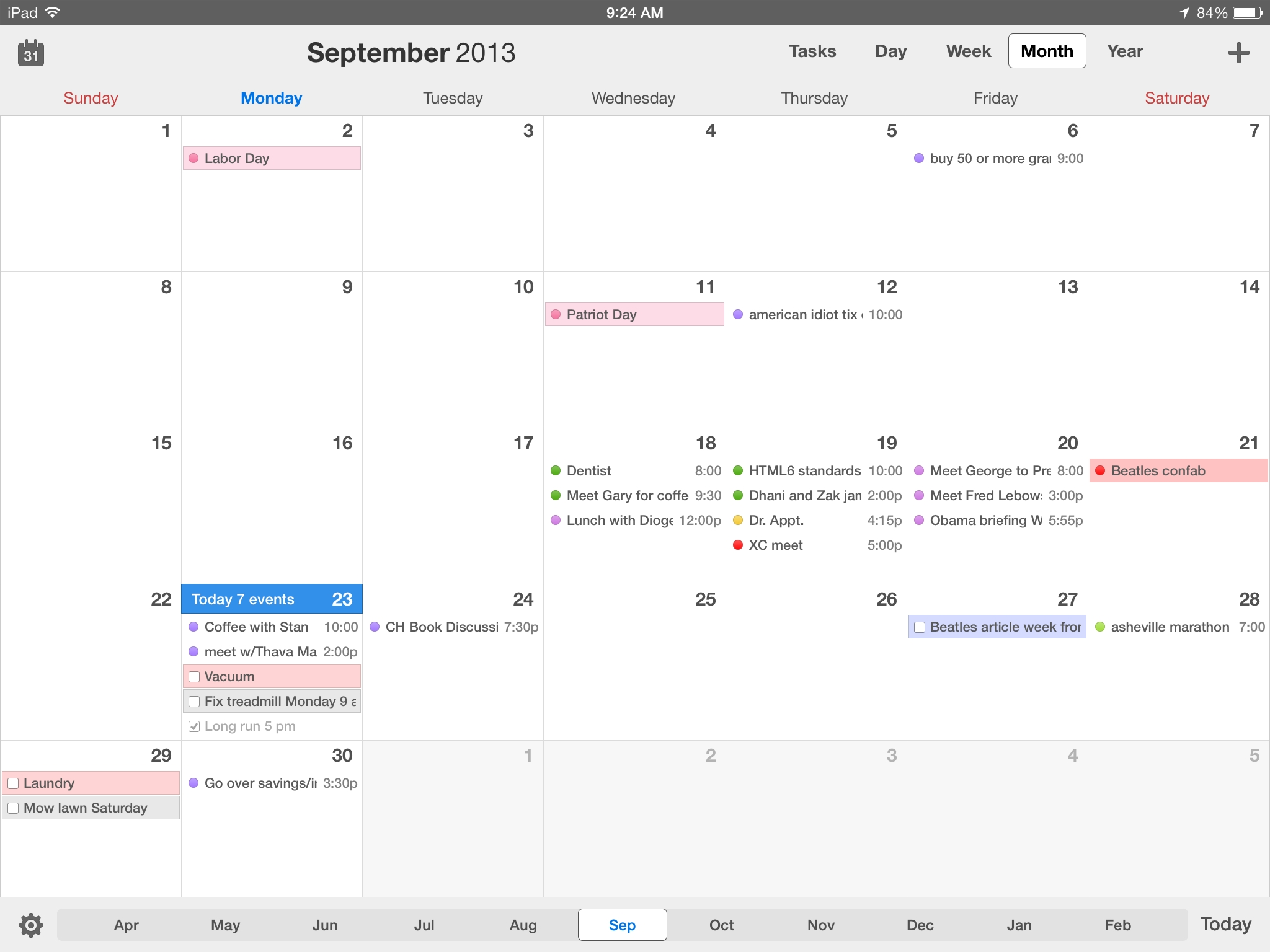 Calendars 5 For Ios Review: Better Than Calendar On All Your-Monthly View Iphone Calendar