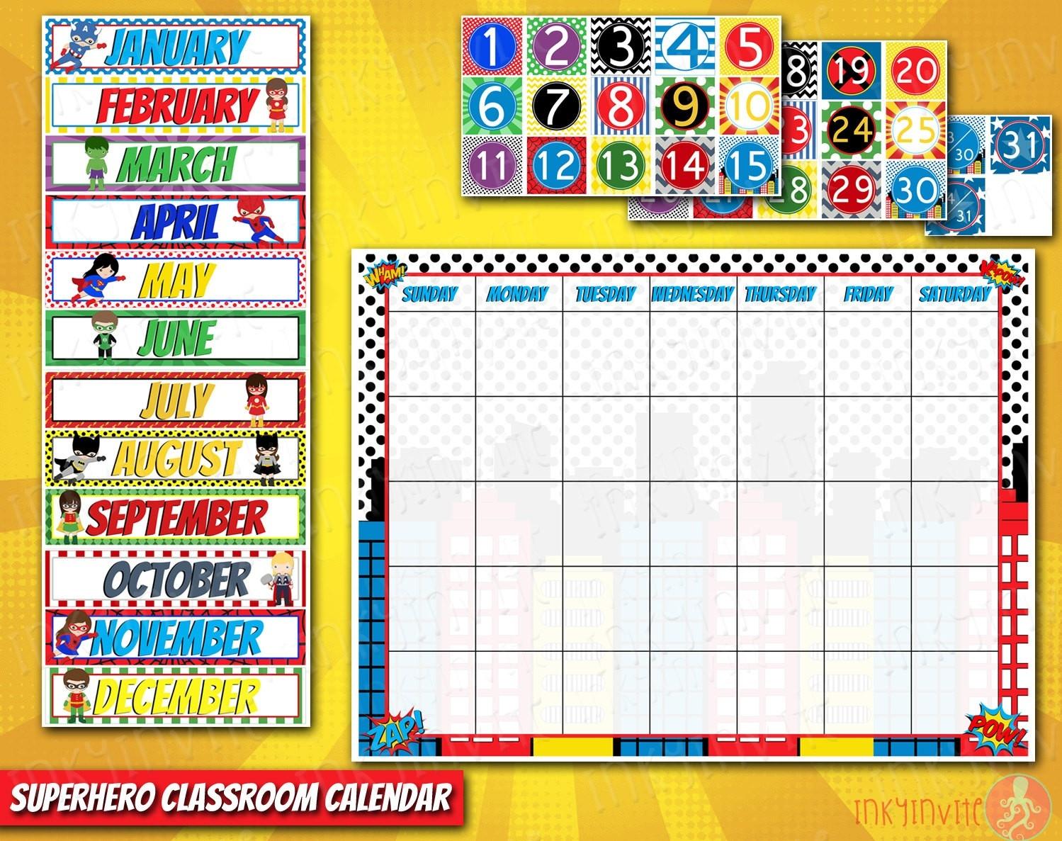 Classroom Calendar Clipart-Blank Preschool Class Calendar