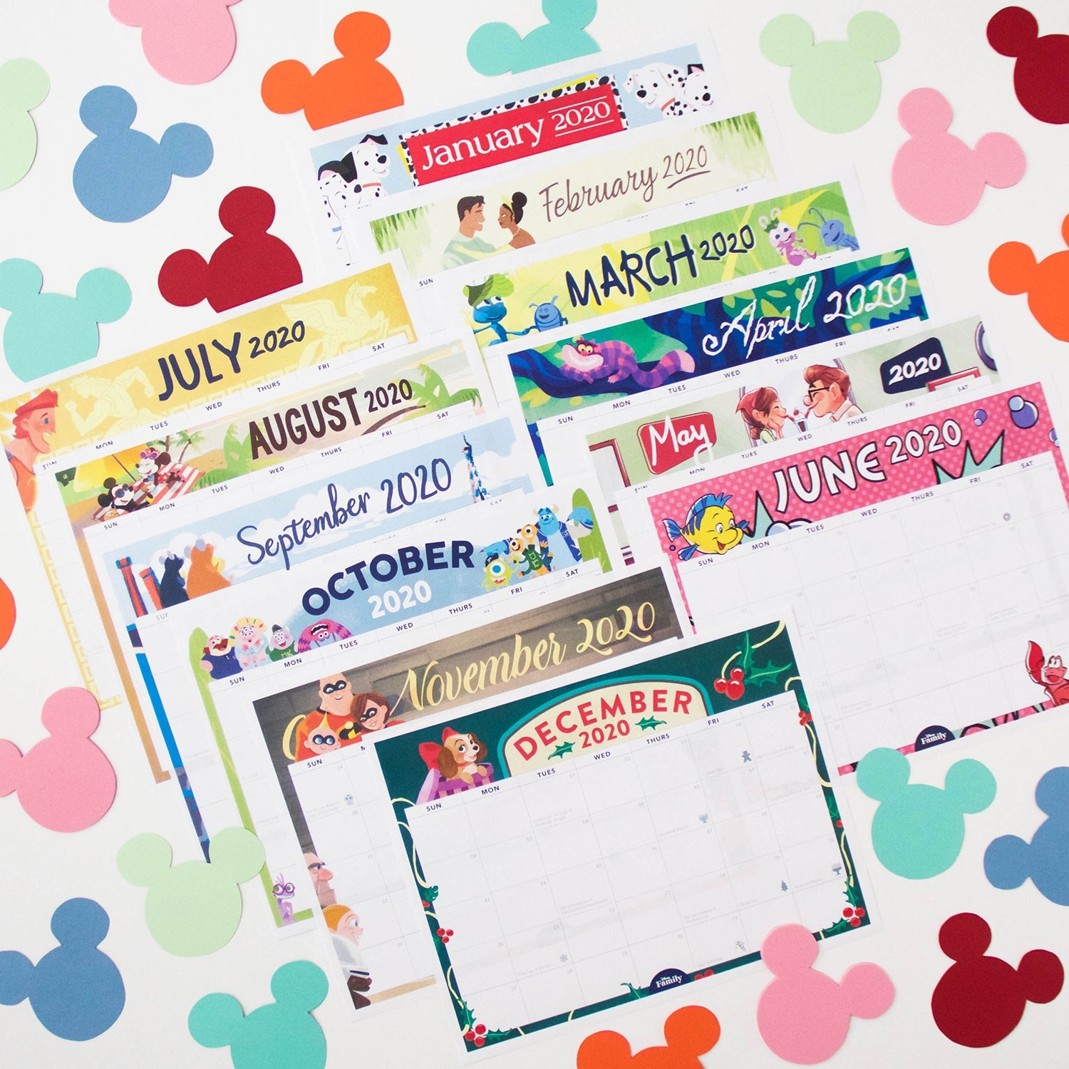 Disney Family Printable 2020 Calendar | Disney Family-Disney Printable Calendar 2020 Monthly