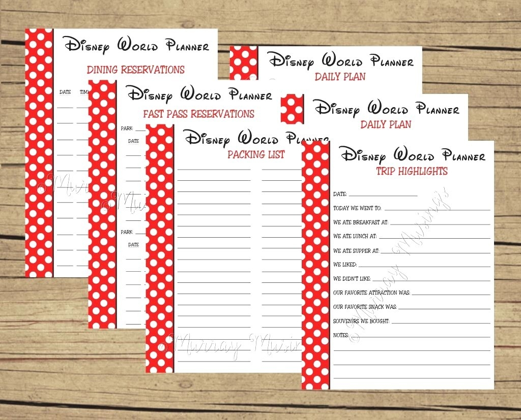 Disney World Itinerary Template - Atelier-Kafana-Blank Disney Itinerary Template