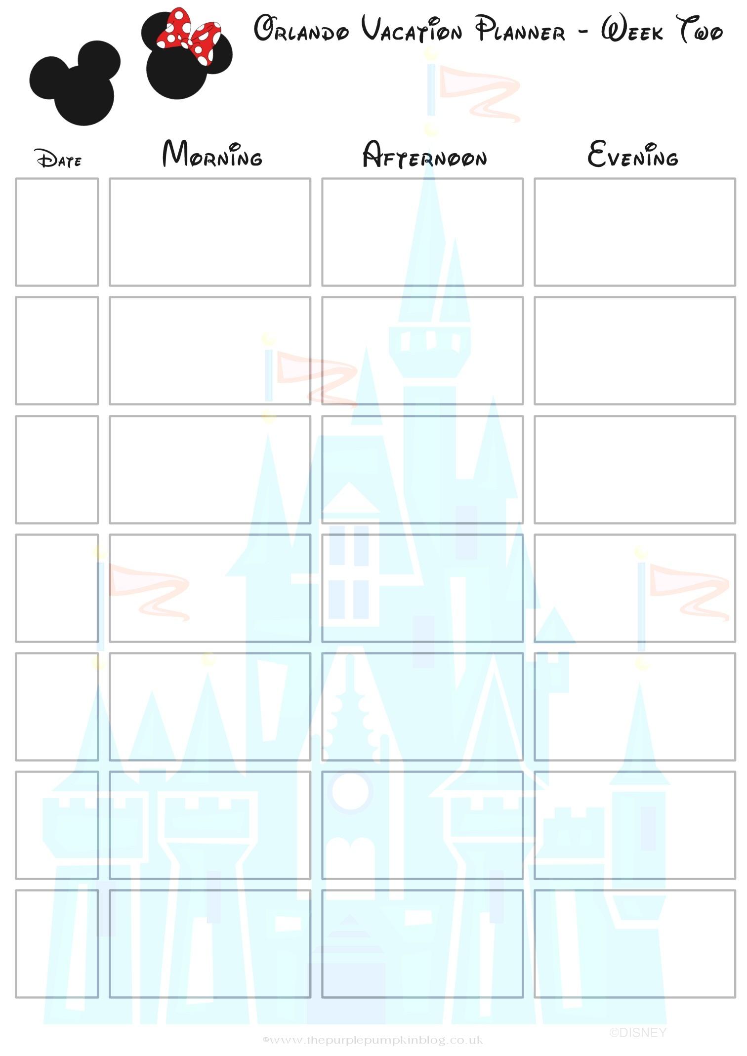 Disney World Itinerary Template Soohongp Within-Disney Free Itinerary Template