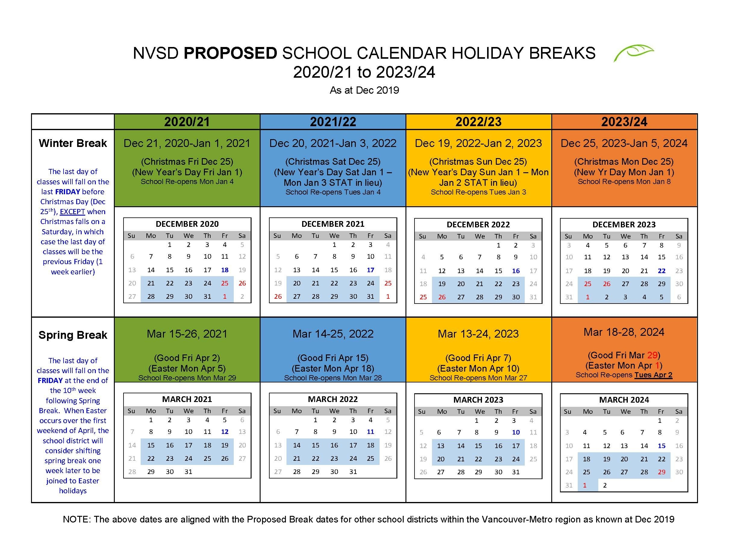 District Calendar - North Vancouver School District-Hp Polytechnic Holidays Schdeule 2020