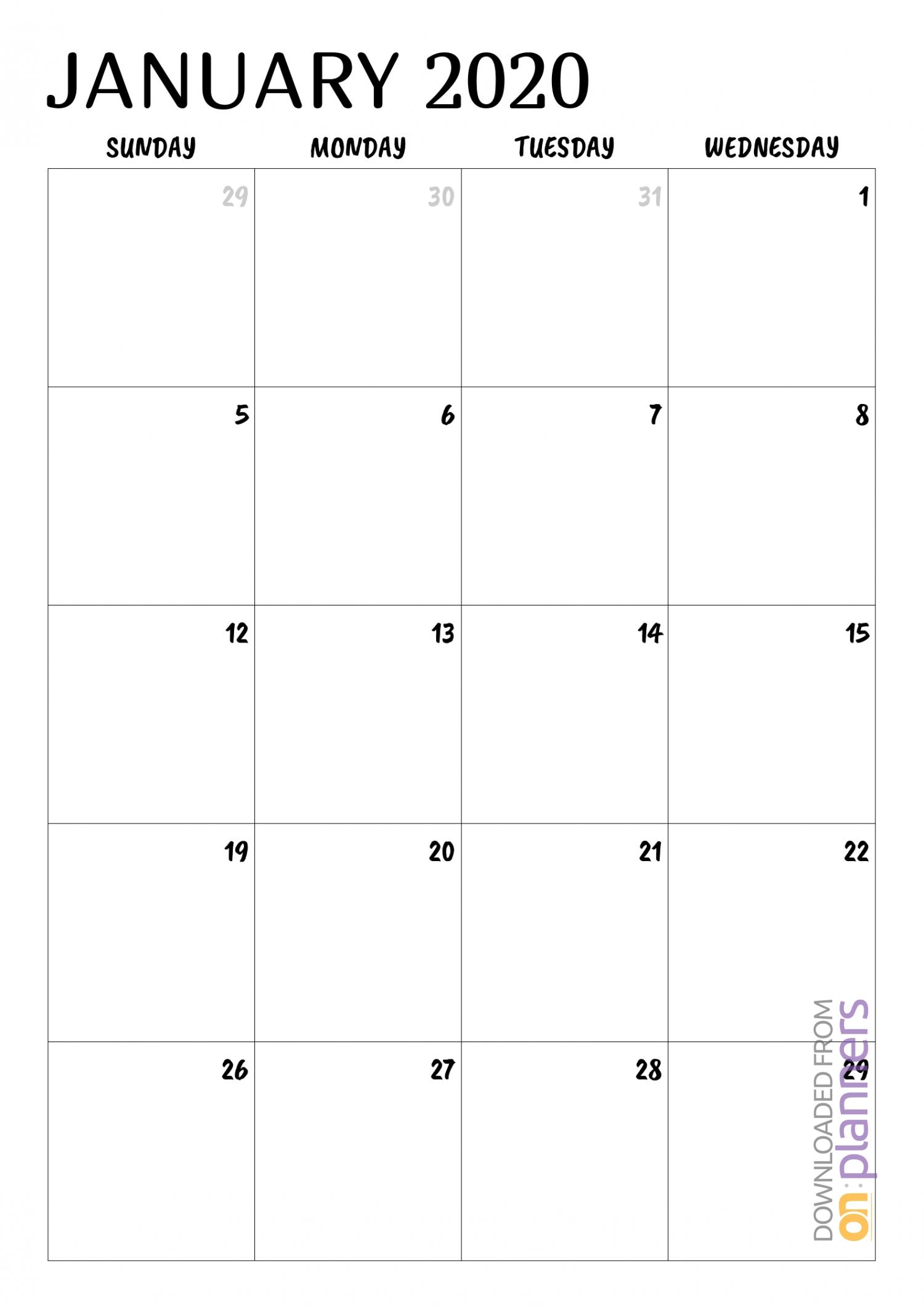Download Printable Minimal Monthly Calendar Pdf-At A Glance Monthly Calendar Printable