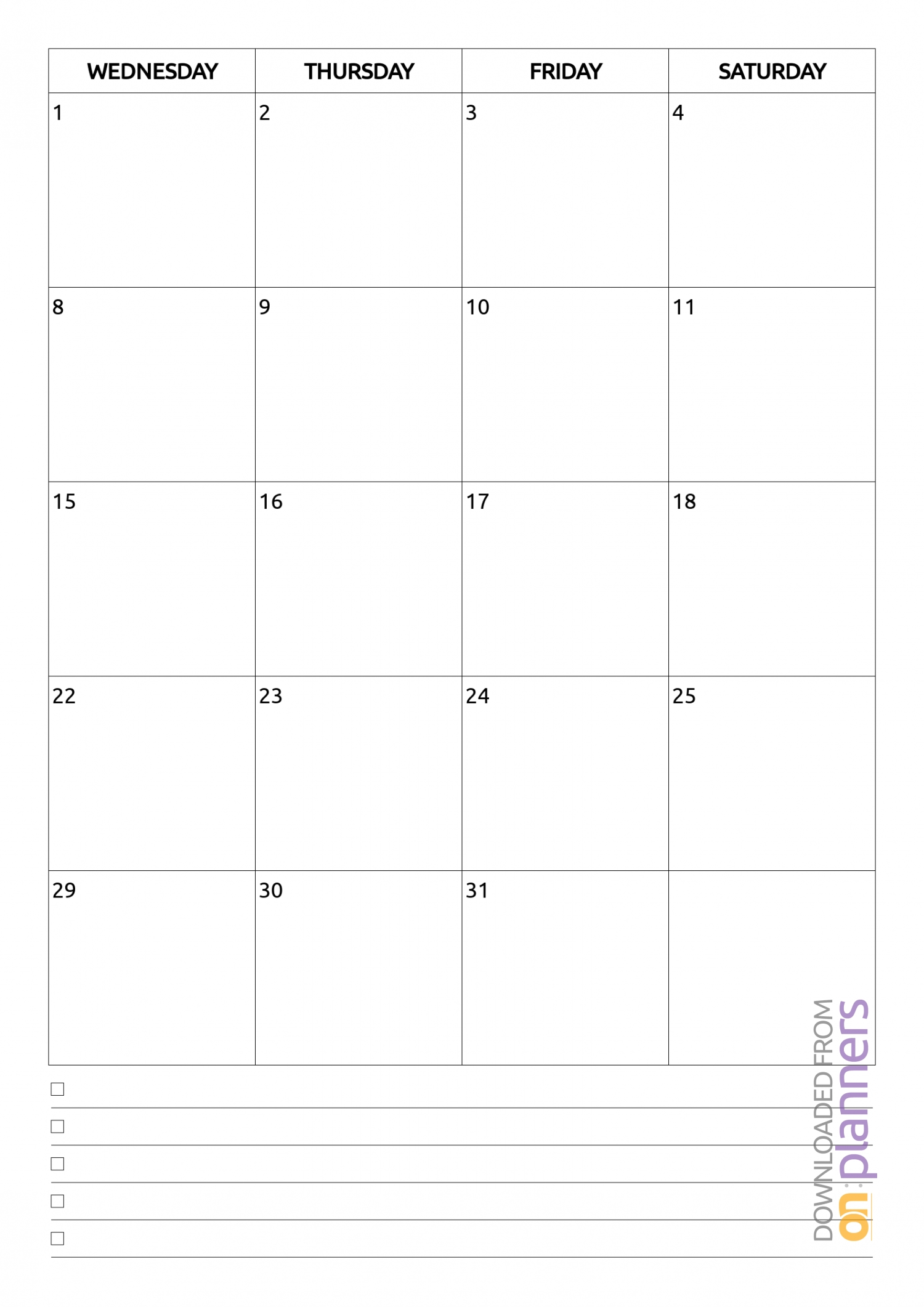 Download Printable Monthly Calendar With Notes Pdf-Blank Calendar Template 2 Months Per Page