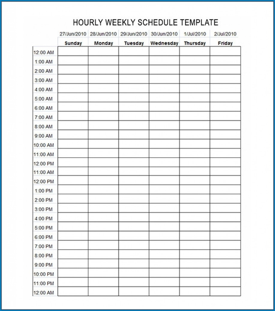 √ Free Editable Schedule Template Hourly | Templateral-Calender Templates Printable Hourly