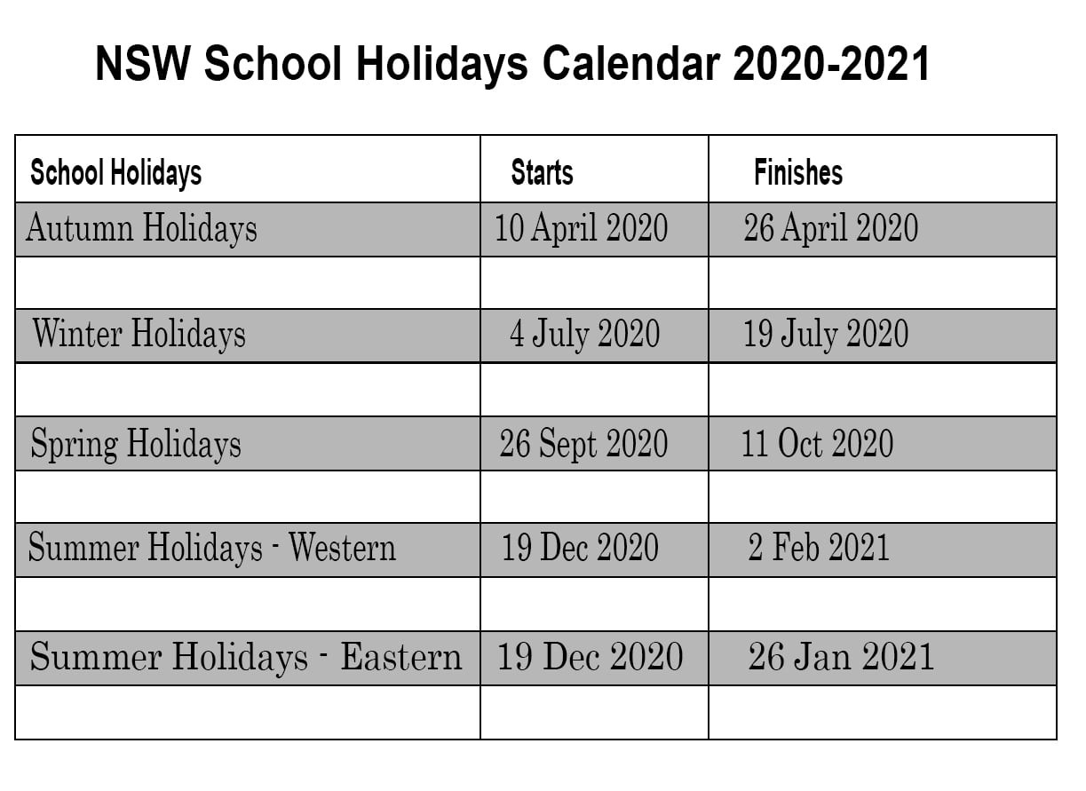 ❤️printable Calendar 2020 Templates With Nsw Public-South Africa Holidays 2020