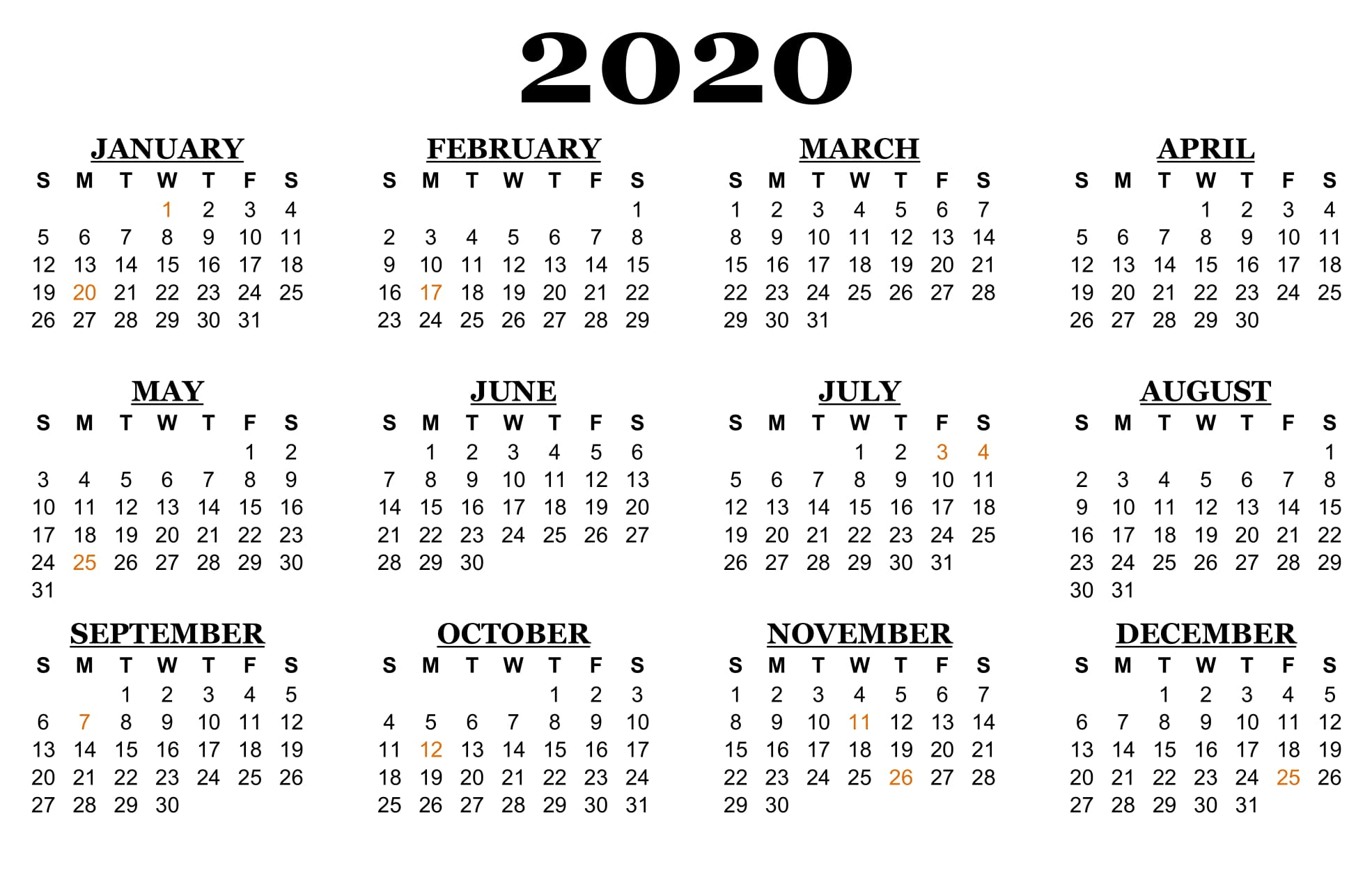 ❤️printable Calendar 2020 Templates With Nsw Public-Vacation Calendar Template 2020