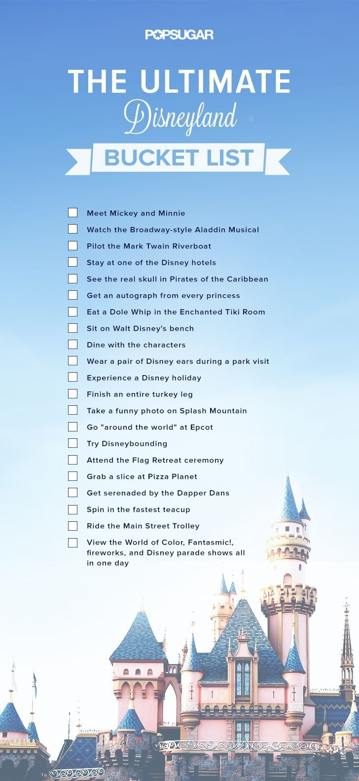 Every Disney Fan Should Complete This Incredible Bucket List-Disney World Word Document Template