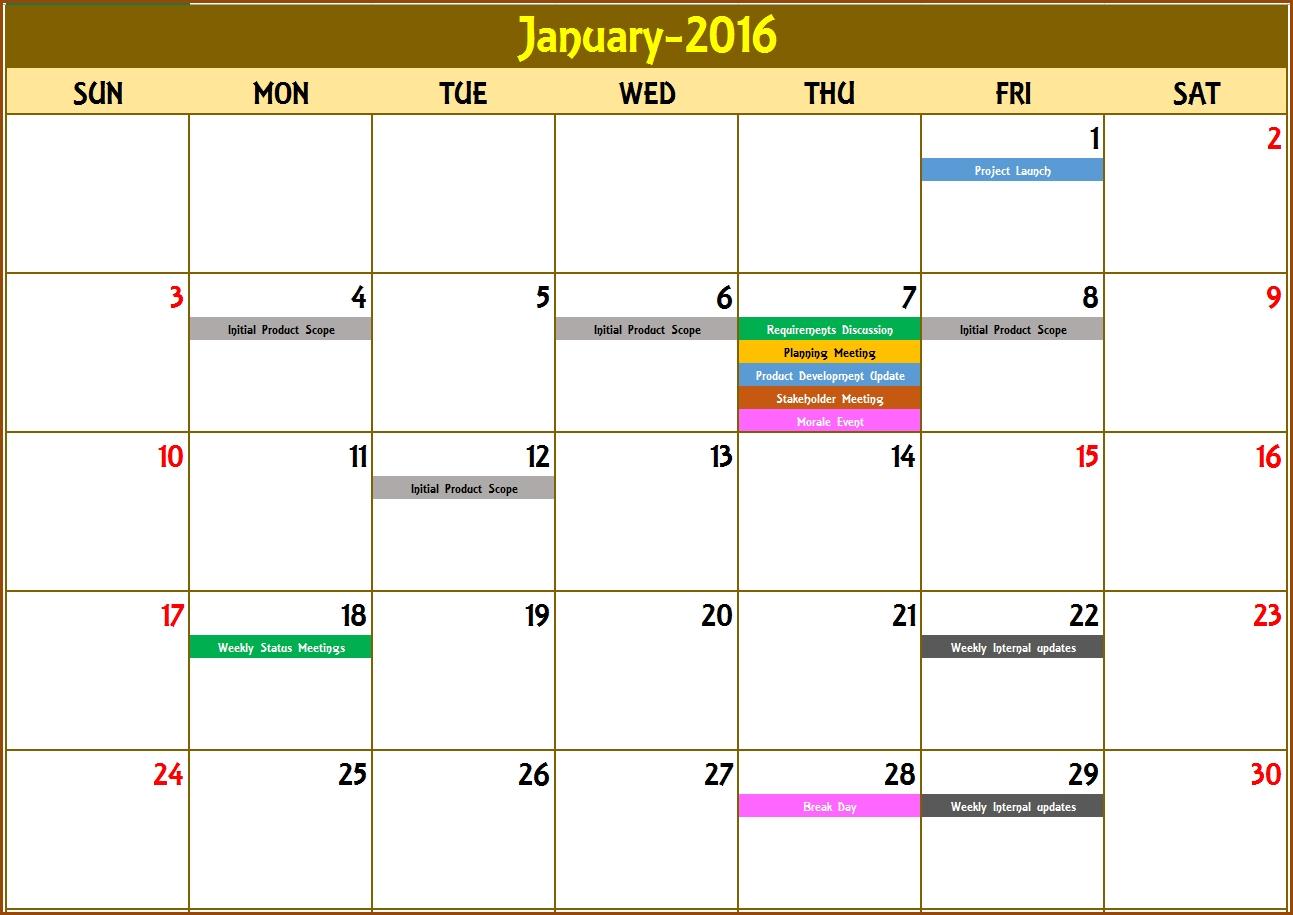 Excel Calendar Template - Excel Calendar 2019, 2020 Or Any-Excel Template Countdown Calendar
