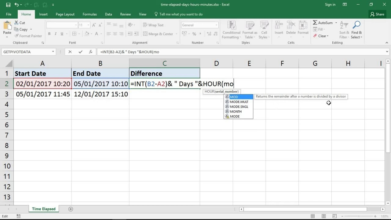 Excel Formula For Time Elapsed In Days, Hours And Minutes-Hour Countdown In Excel Template