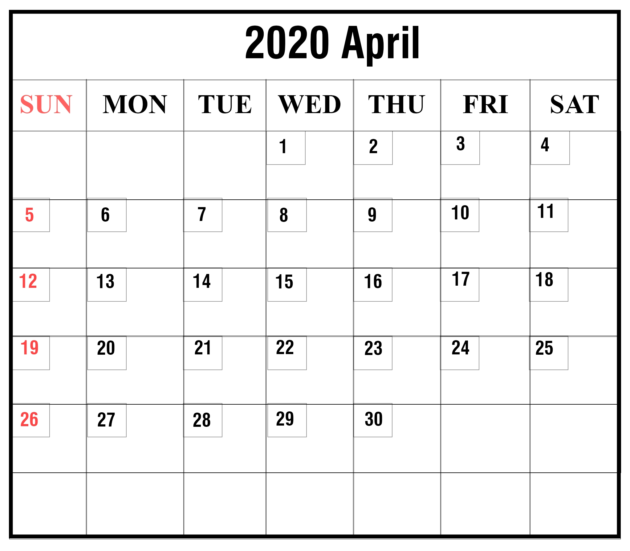 😄printable Yearly Calendar 2020 Template With Holidays [Pdf-Blank I 9 Form 2020 Printable