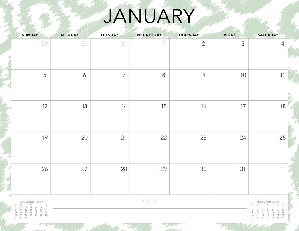 Free 2020 Printable Calendars - 51 Designs To Choose From!-2020 Monthly Calendars Starting With Monday