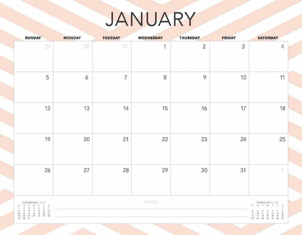 Free 2020 Printable Calendars - 51 Designs To Choose From!-Blank Calendar Template 2 Months Per Page