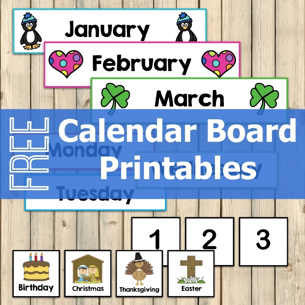 Free Calendar Board Printables - My Joy-Filled Life-Calendar Template Bulletin Board