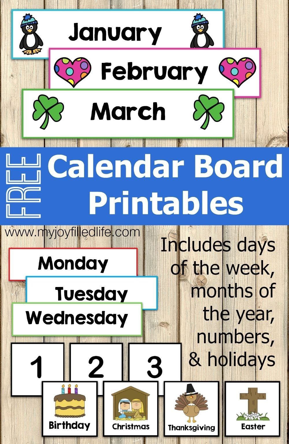 Free Calendar Board Printables | Preschool Calendar-Blank Preschool Class Calendar