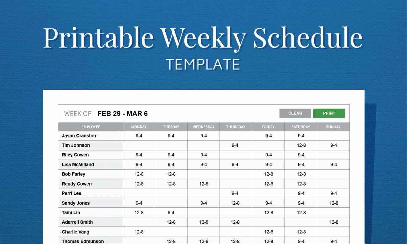 Free Employee Schedule Template Lovely Monthly Work Schedule-Monthly Work Schedule Template Printable