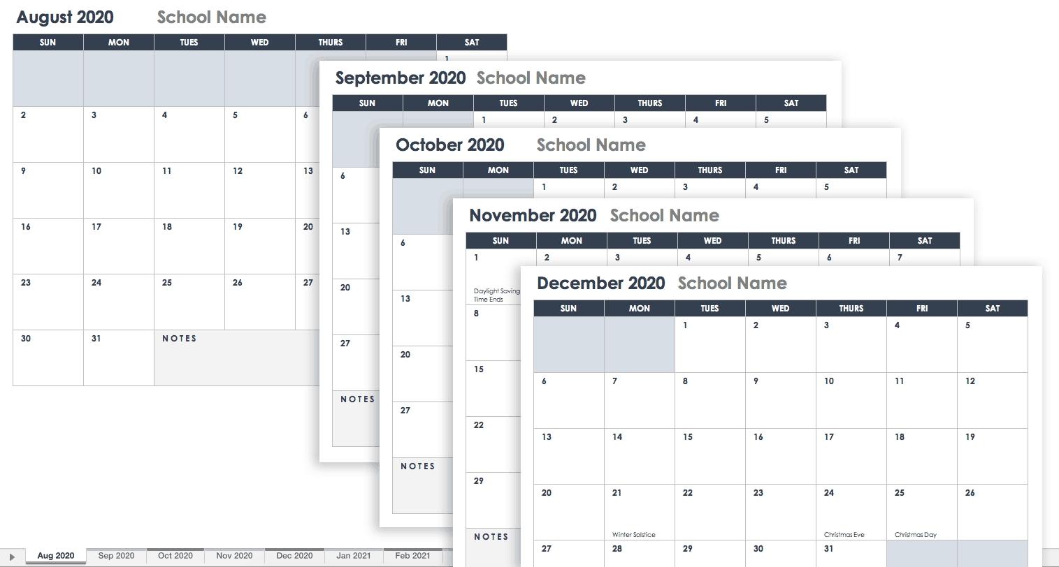 Free Google Calendar Templates | Smartsheet-Google Sheets 2020 Calendar Template