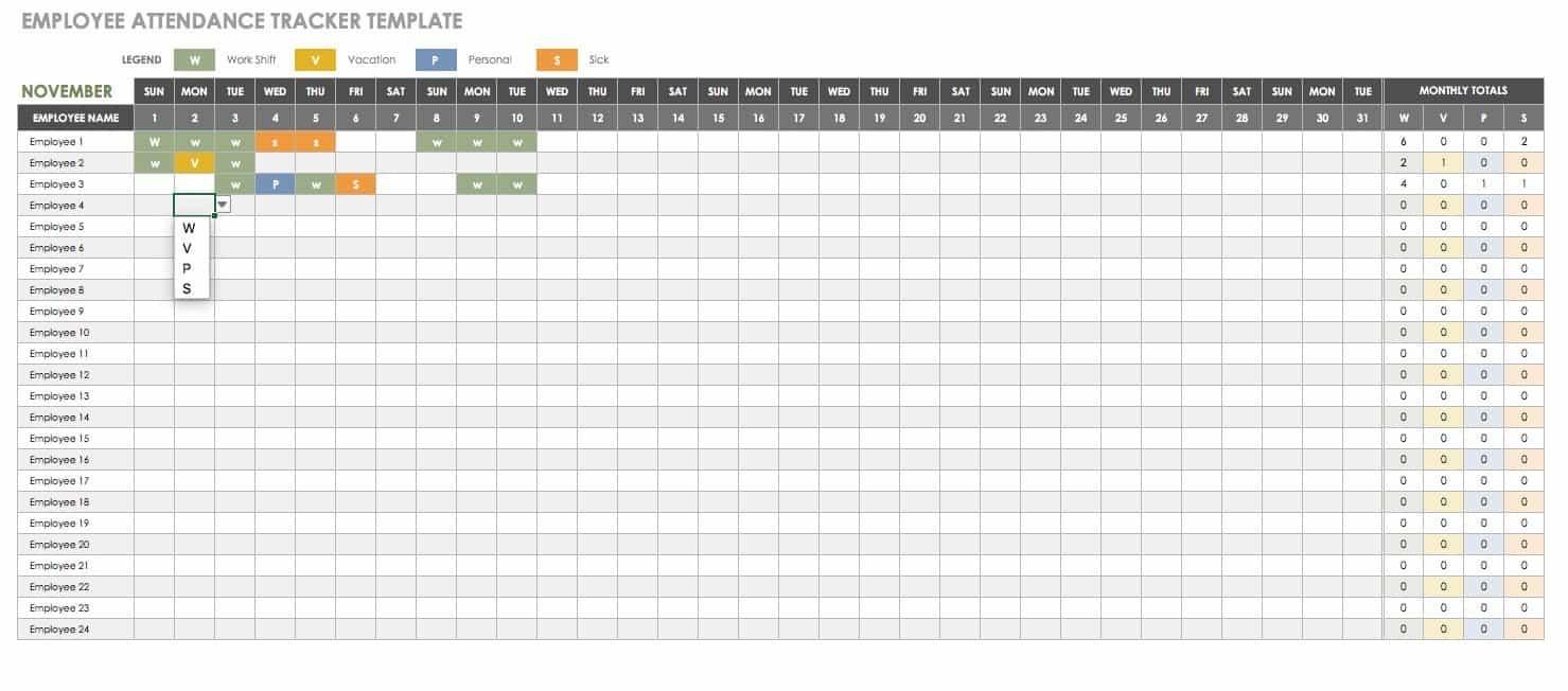 Free Human Resources Templates In Excel | Smartsheet-Employee Vacation Calendar Template