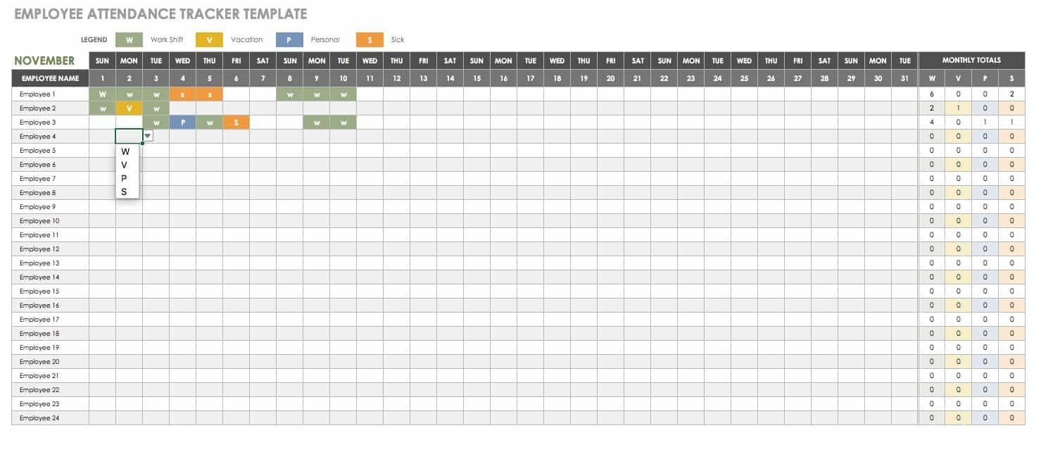 Free Human Resources Templates In Excel | Smartsheet-Staff Vacation Calendar Template