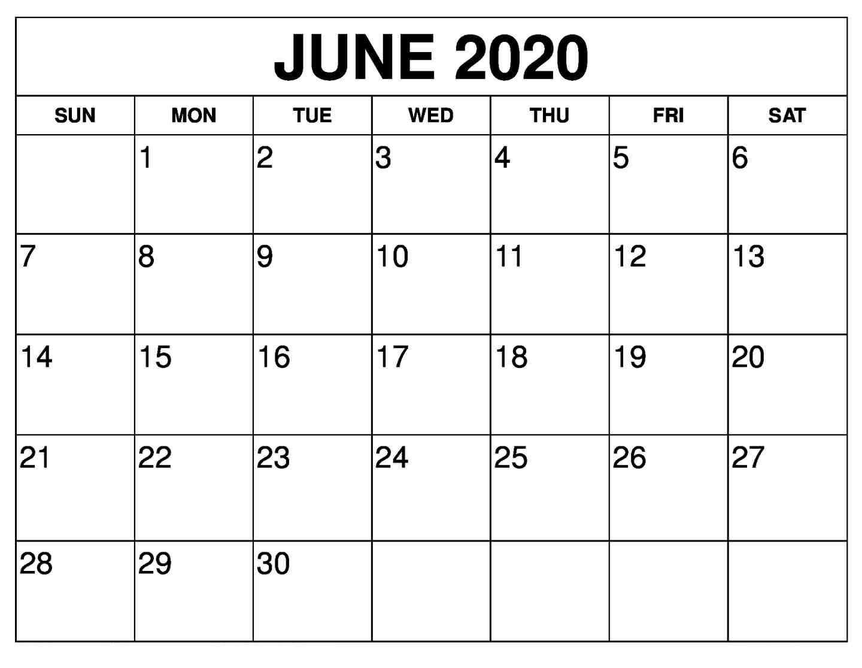 Free June 2020 Calendar Printable | 12 Month Printable Calendar-June August 2020 Calendar Template