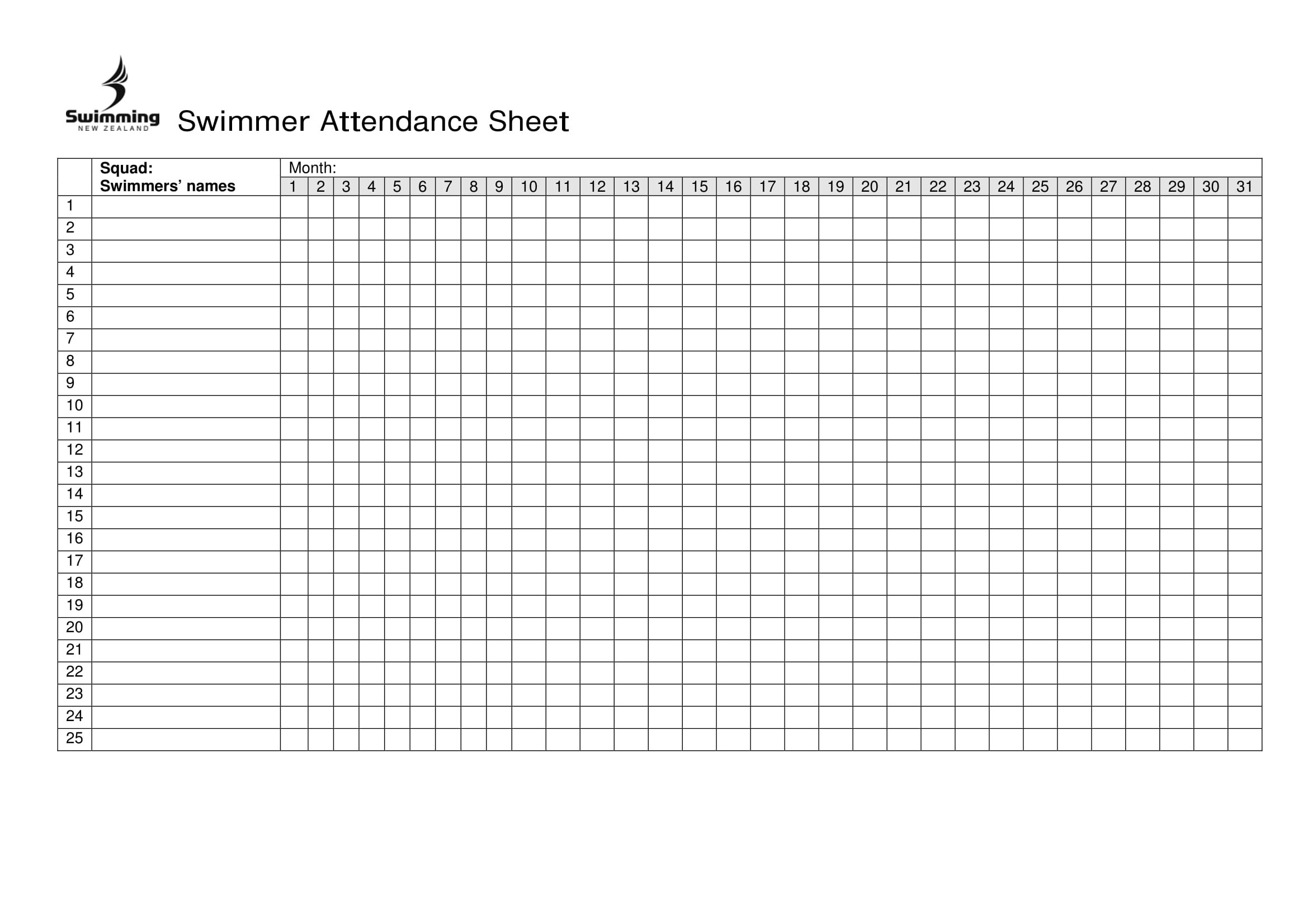 Free Printable Attendance Sheet Excel Pdf, Word, Template-2020 Employee Attendance Template