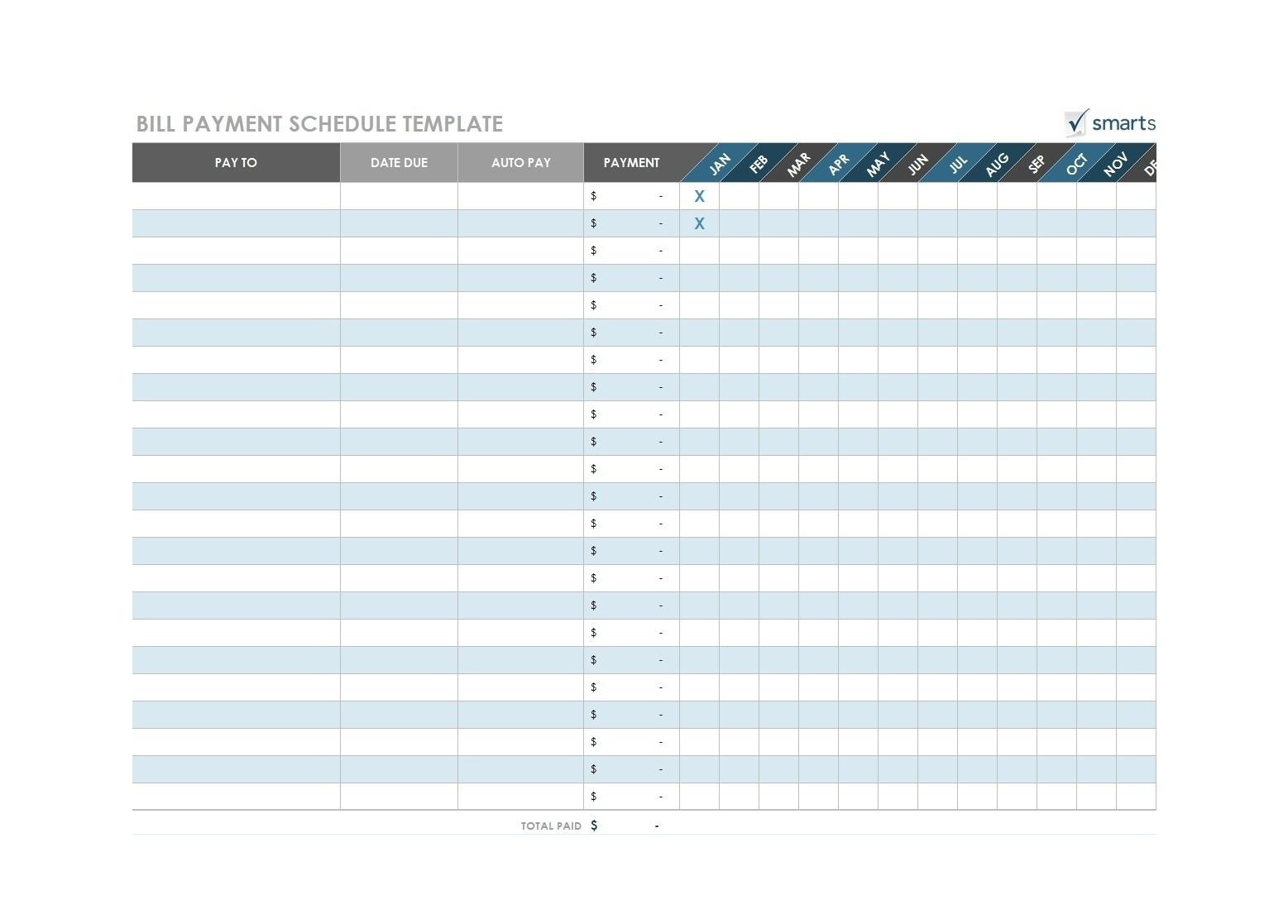 Free Printable Bill Payment Template - Calendar Inspiration-Bill Pay Calendar Template