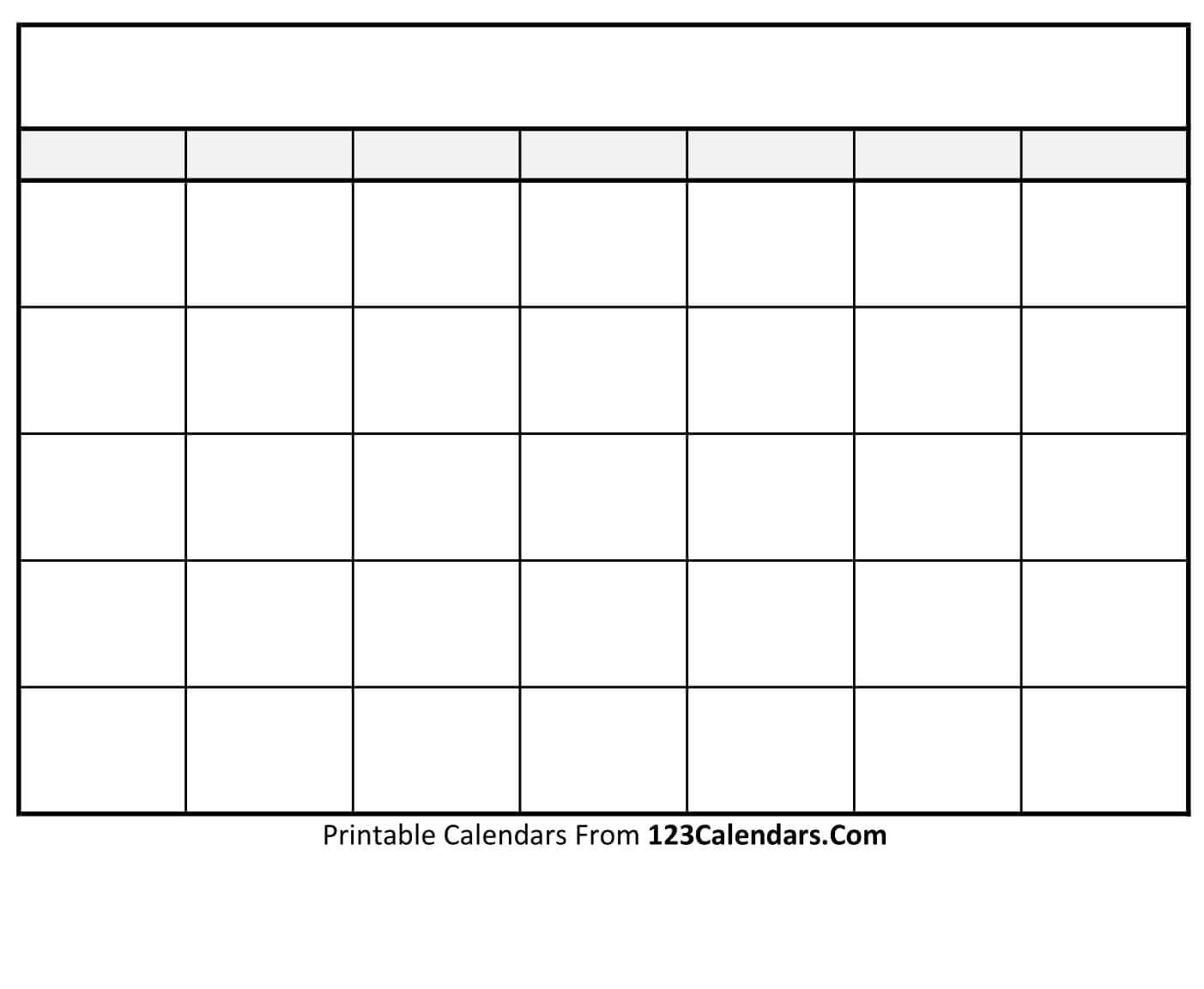 Free Printable Blank Calendar | 123Calendars-Blank Calendar Page Printable
