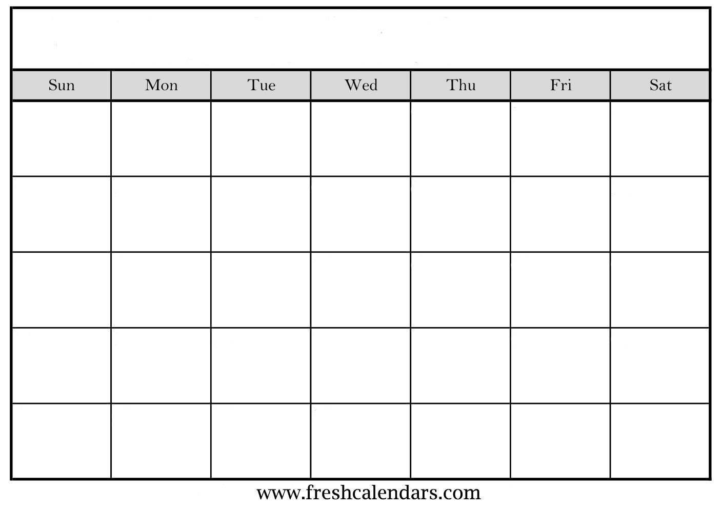 Free Printable Blank Calendar 2020-Blank Calendar Page Printable