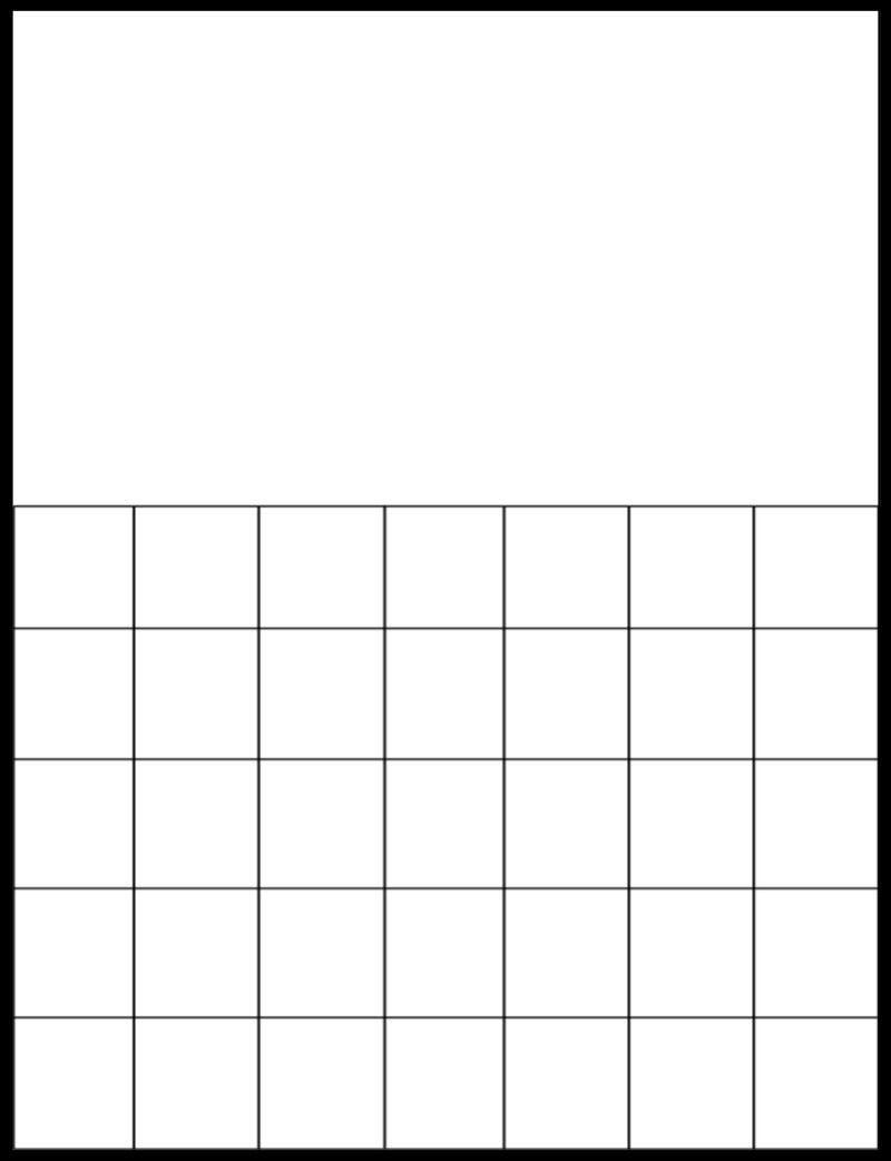 Free Printable Blank Calendar Grids | Printable Blank-Free Blank Printable Calendar Template 81/2X11