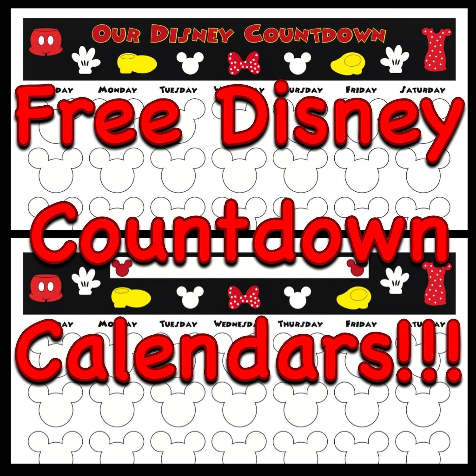 Free, Printable Countdown Calendars To Use For Your Next-Template Countdown Calendar Disney