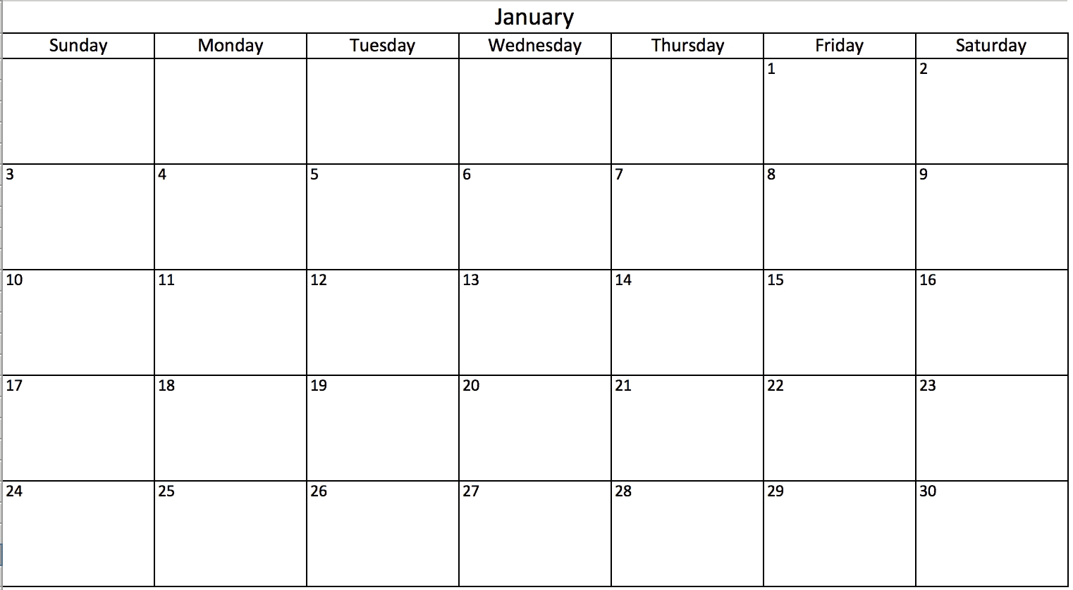 Free, Printable Excel Calendar Templates For 2019 & On-Blank Printable Monthly Calendar With No Dates