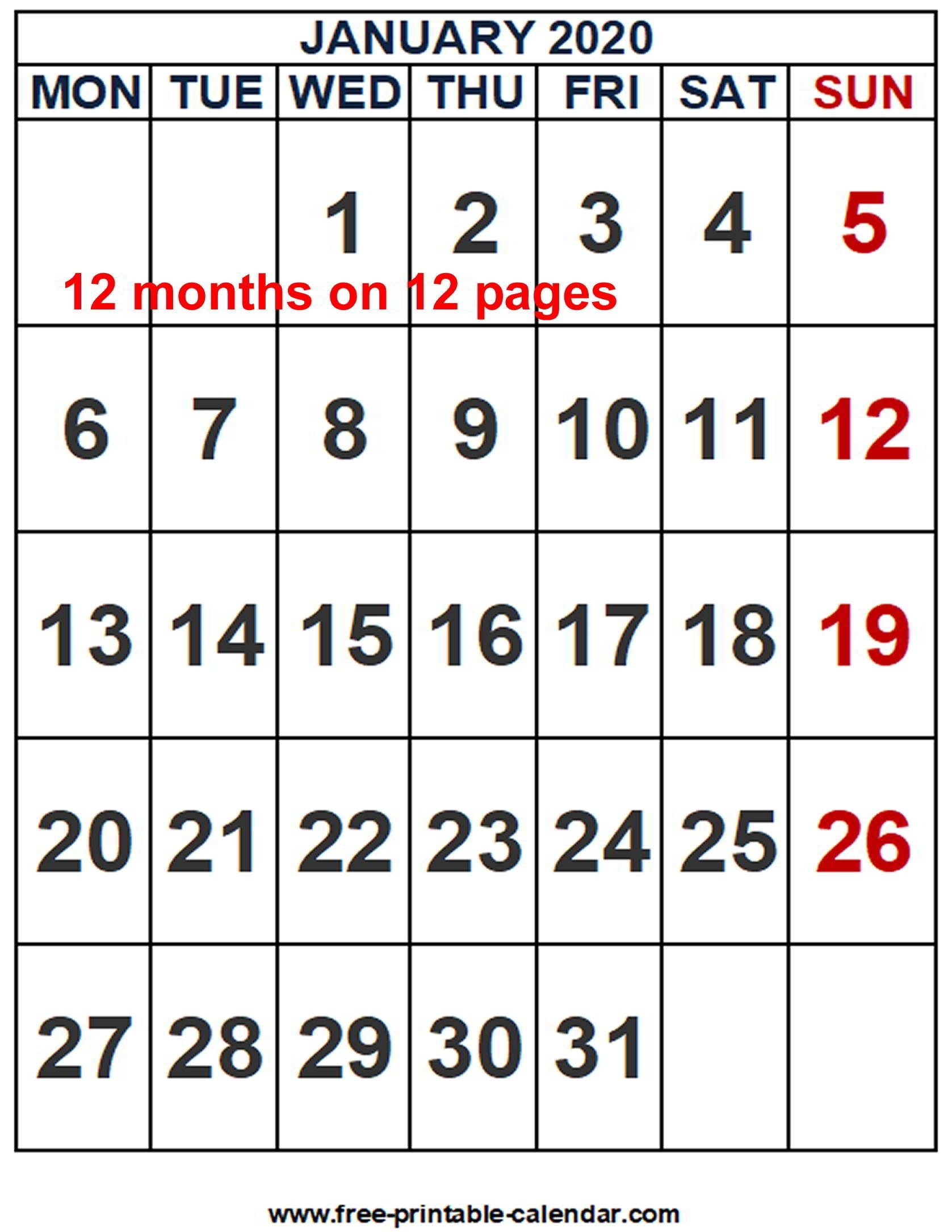 Free Word Calendar Templates 2020 - Wpa.wpart.co-Microsoft Word Calendar Templates 2020 Free