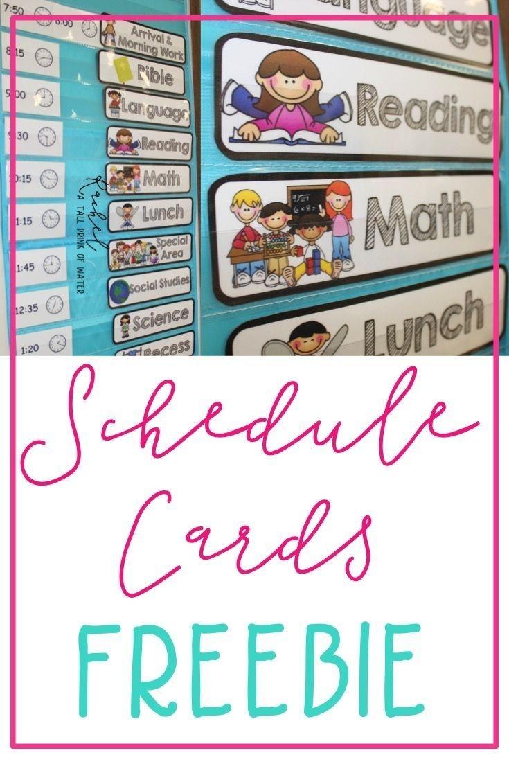 Freebie Schedule Cards | Classroom Schedule, Classroom-Blank Preschool Class Calendar