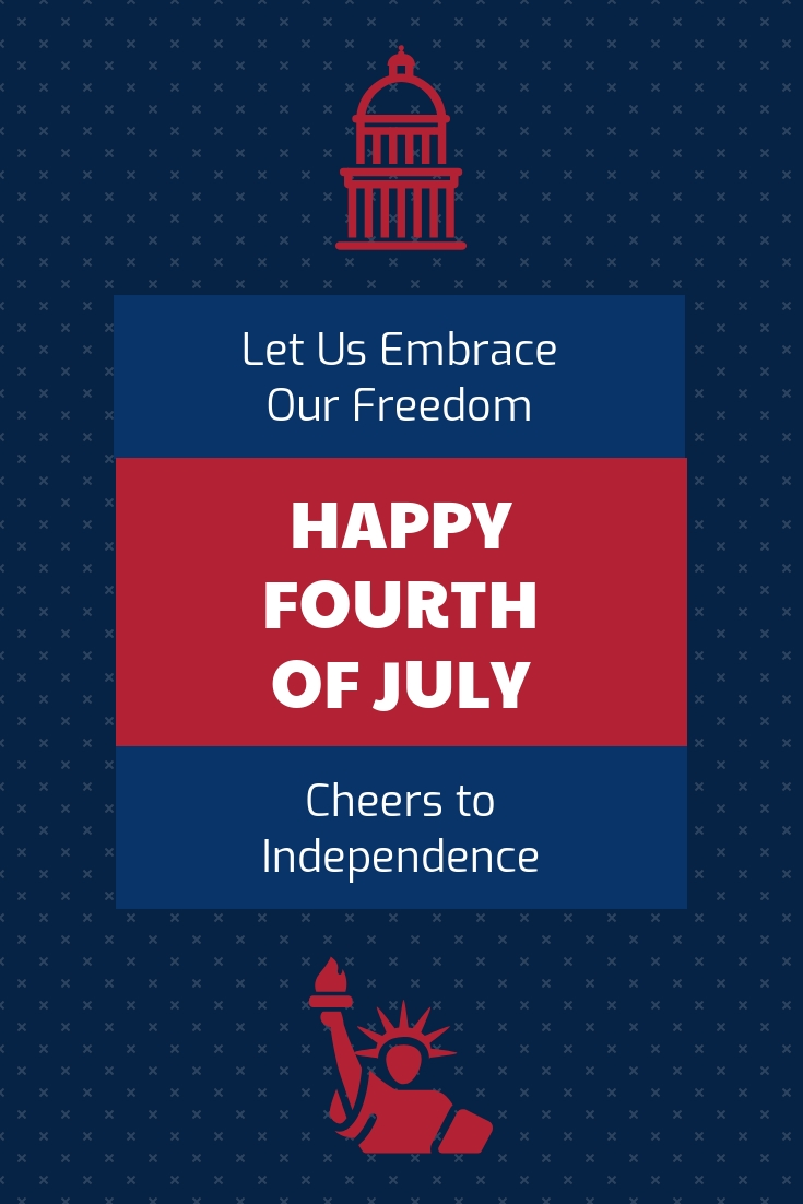 Freedom 4Th Of July Pinterest Post Template-July 4Th Closed Sign Template