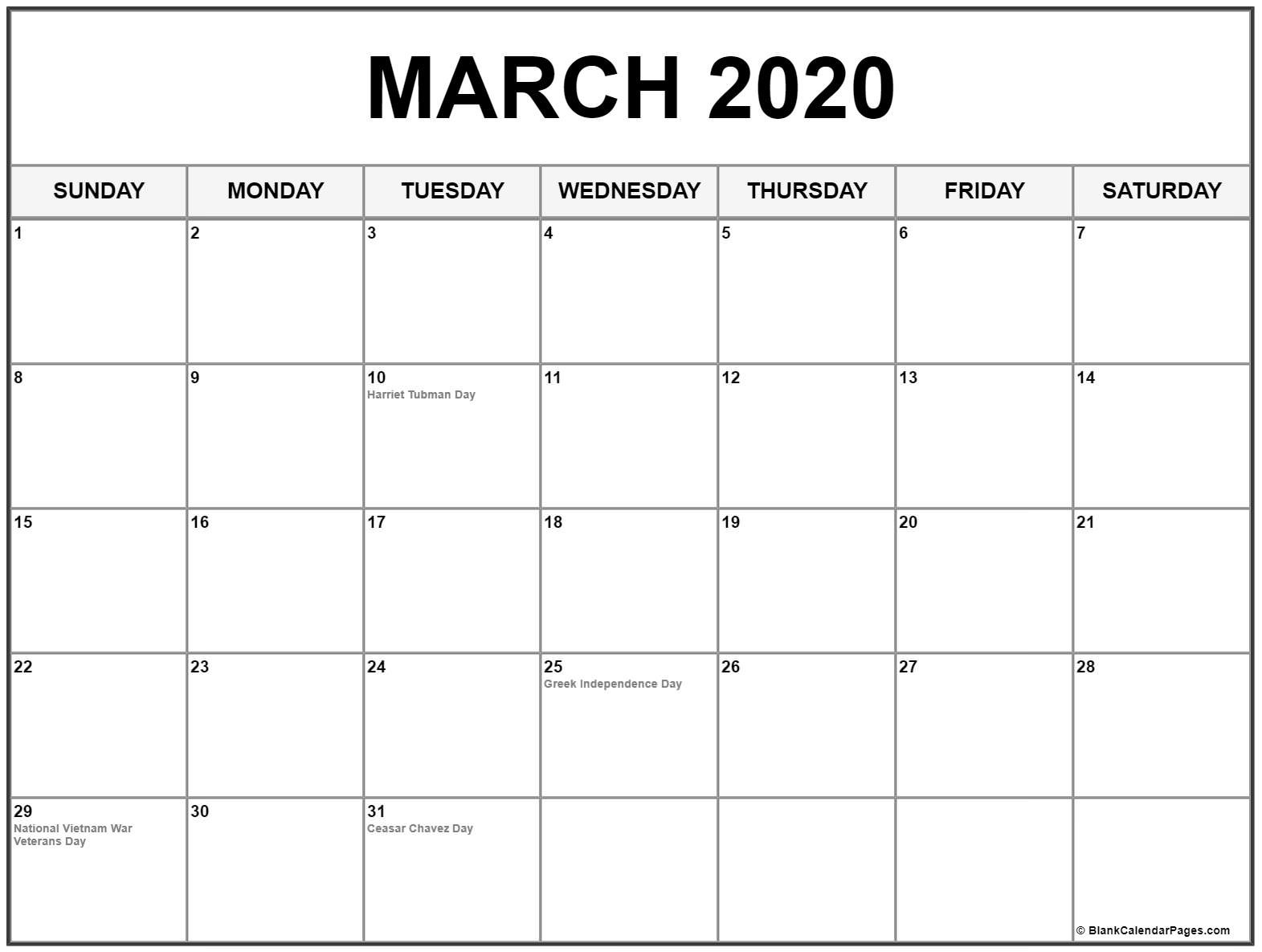 Full List Of March Holidays 2020 Calendar With Festival-Holidays To The Philipines In March 2020