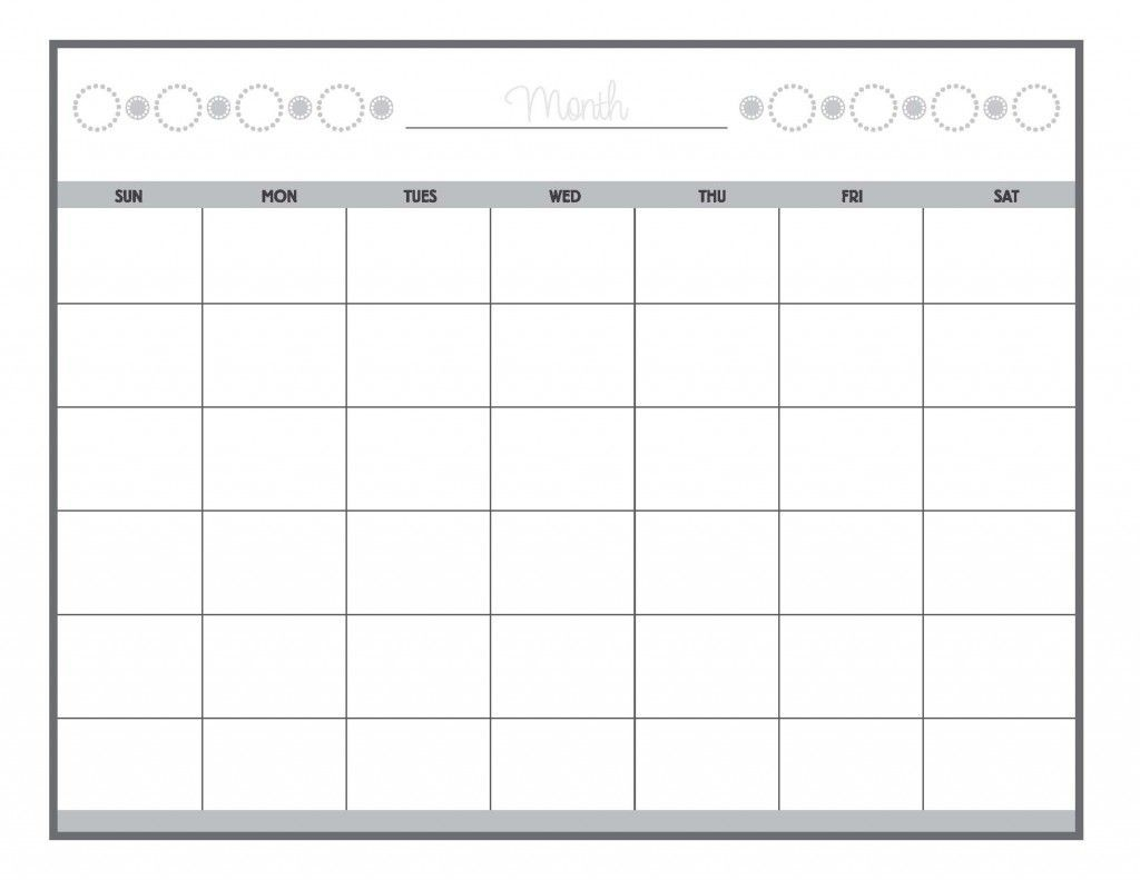 Guess The Date Print Our Calendar Grid, Then Fill In The-Printable Monthly Calendar Grid