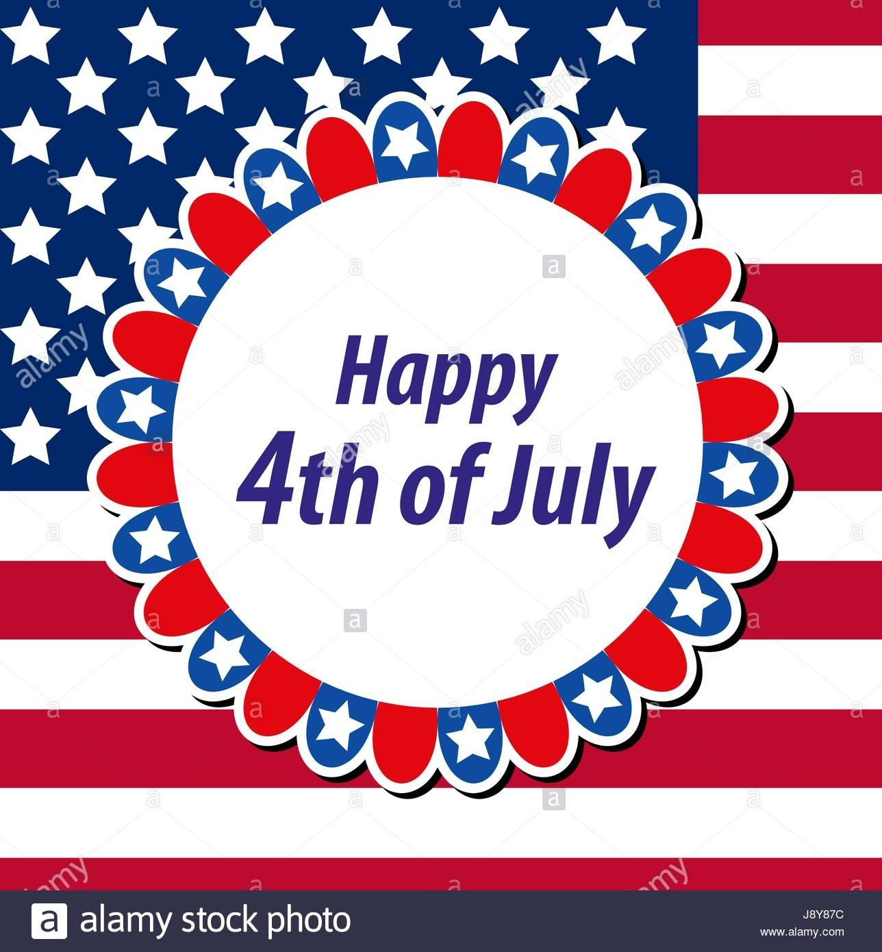 Happy 4Th July Greeting Card, Poster. American Independence-July 4Th Closed Sign Template