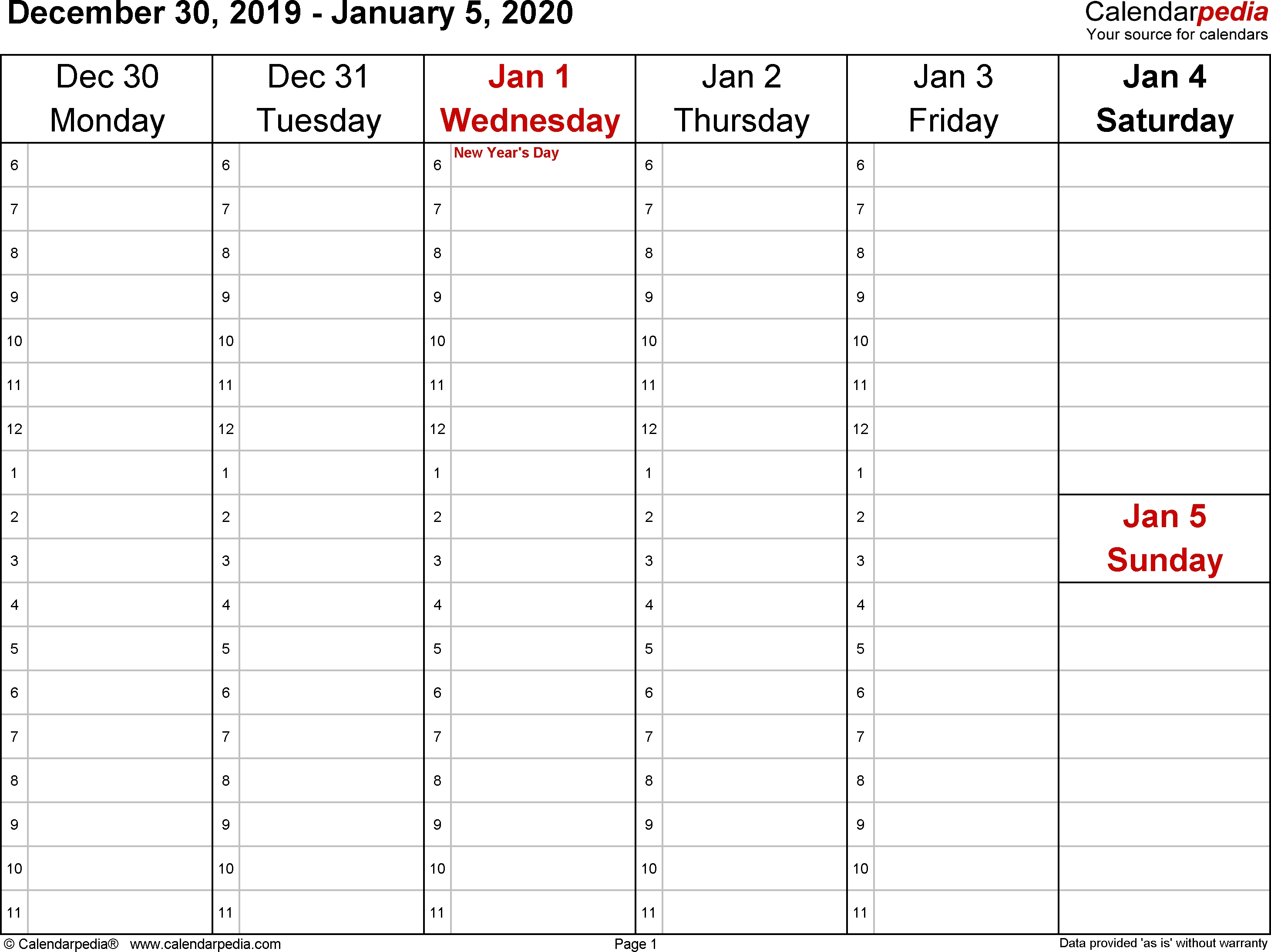 Hourly Calendar Template 2020 - Wpa.wpart.co-Daily Hourly Calendar Template 2020 Printable