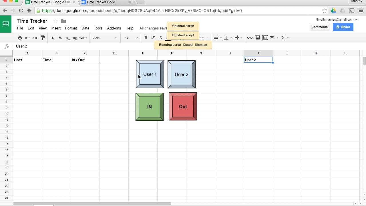 How Can I Create A Time Tracker Or Punch Clock Using Google Sheets?-Hour Countdown In Excel Template