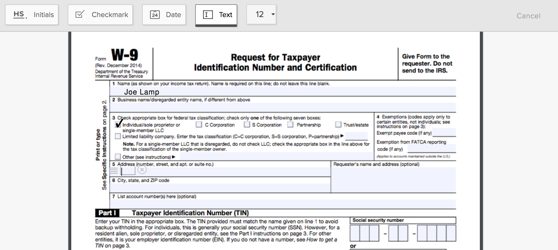 How To Fill Out A W-9 Form Online - Hellosign Blog-2020 W-9 Blank Pdf