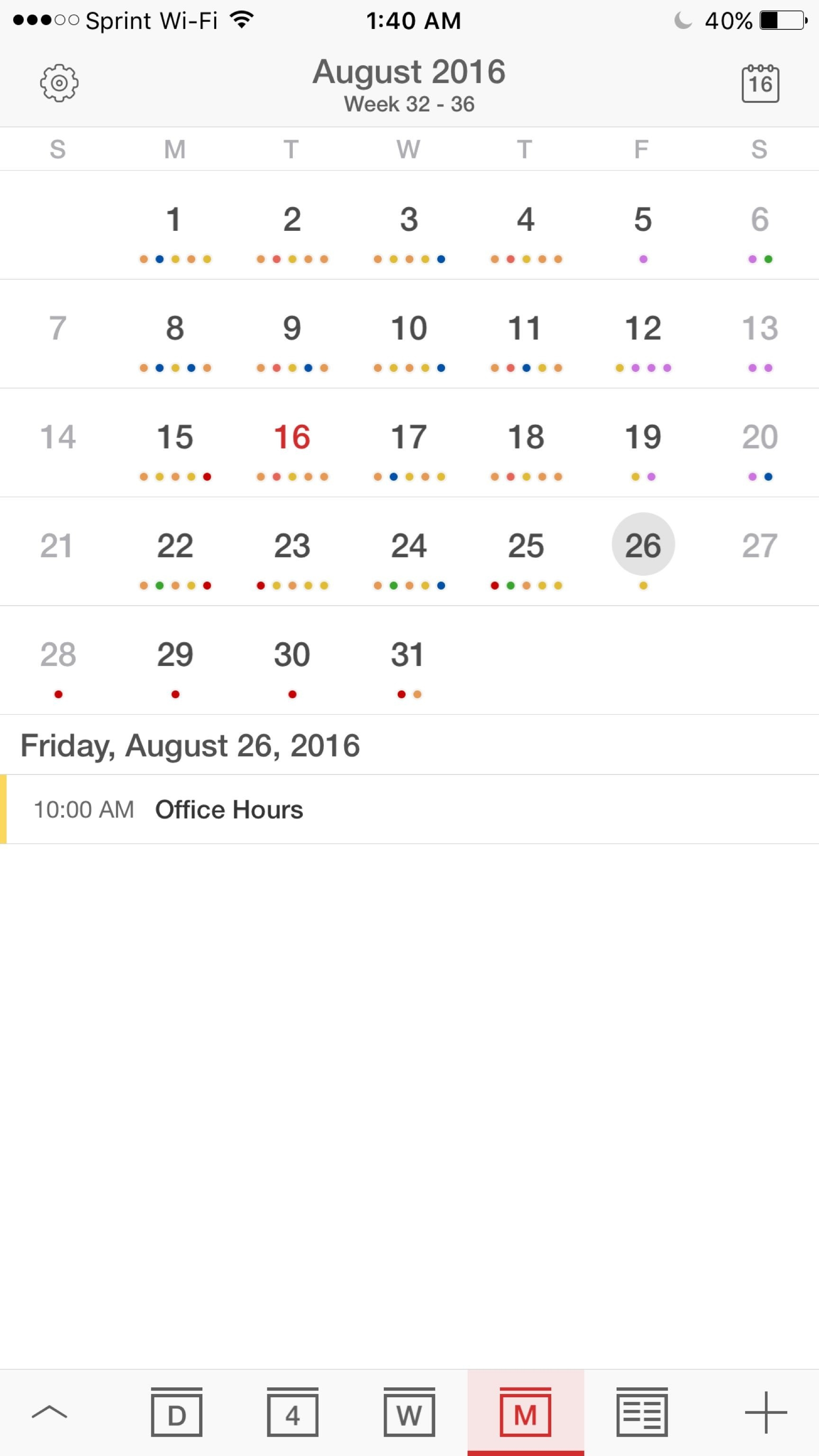 I'm Ok With The Iphone Calendar App, But Is There A Way To-Monthly View Iphone Calendar