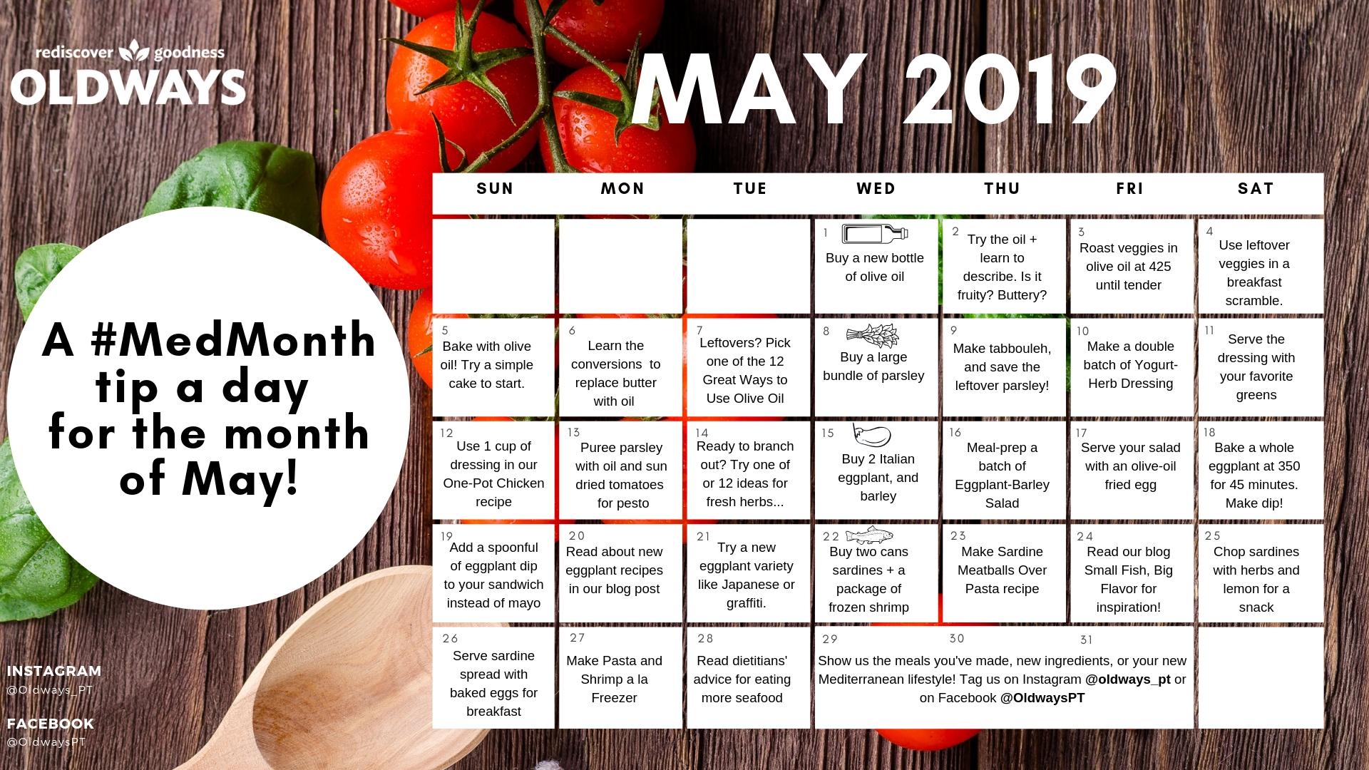 International Mediterranean Diet Month | Oldways-National Food Days Monthly